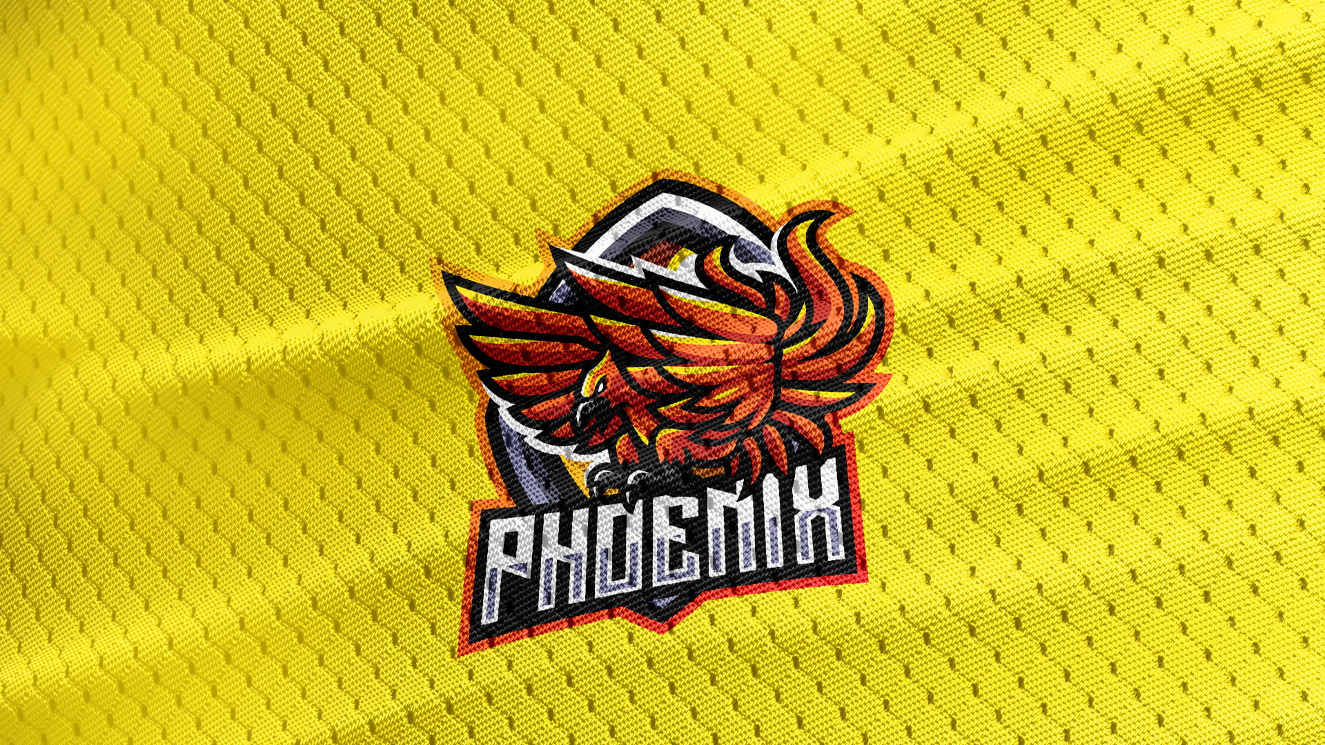Yellow-Jersey-Texture-Free-Download-Phoenix-Mascot-Logo