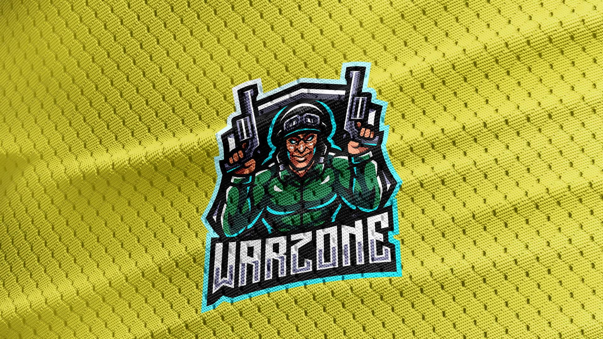 Yellow-Jersey-Texture-Free-Downloads-Warzone-Gaming-Mascot-Logo
