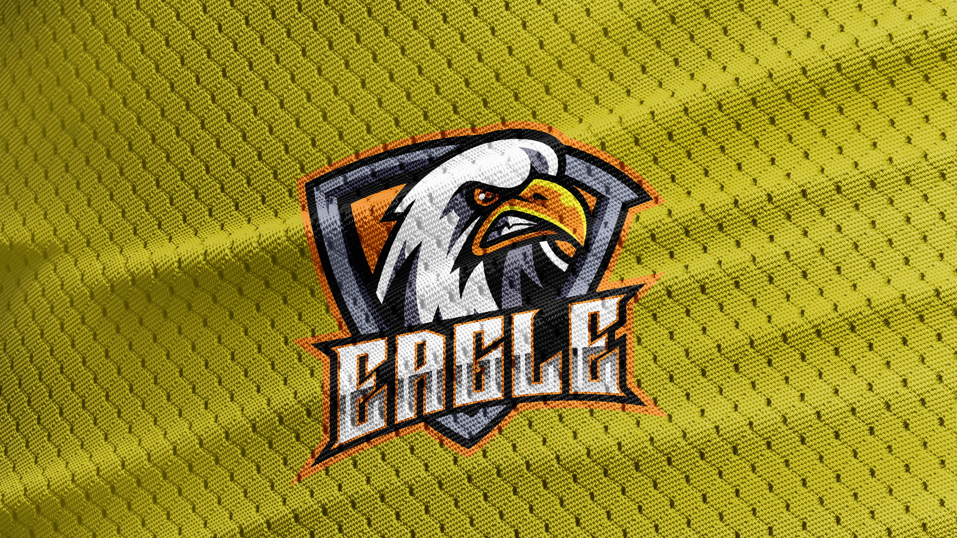 Yellow-Jersey-Texture-Free-Eagle-Logo-Mascot