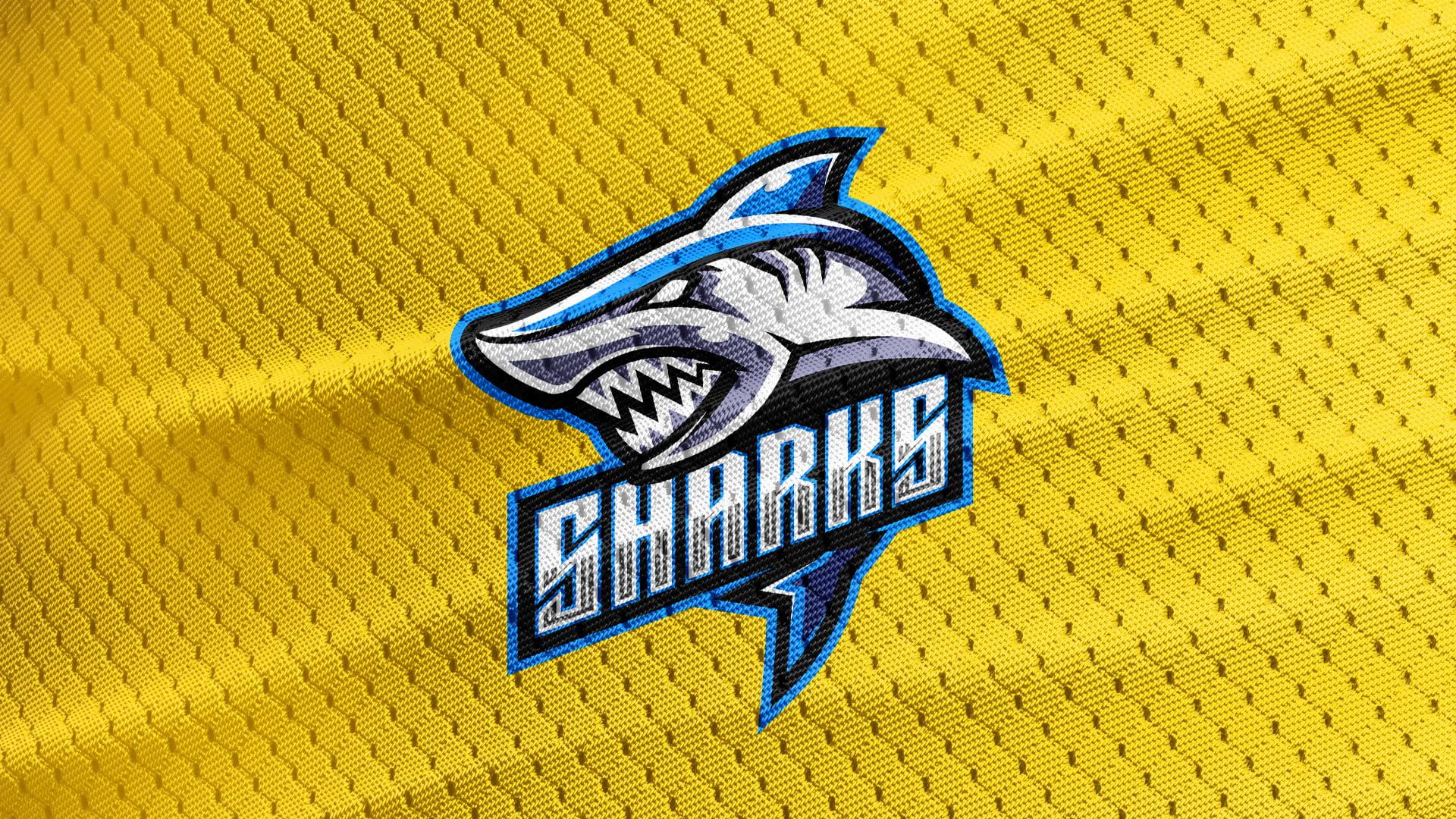 Yellow-Texture-Free-Shark-Logo-Mascot-Download
