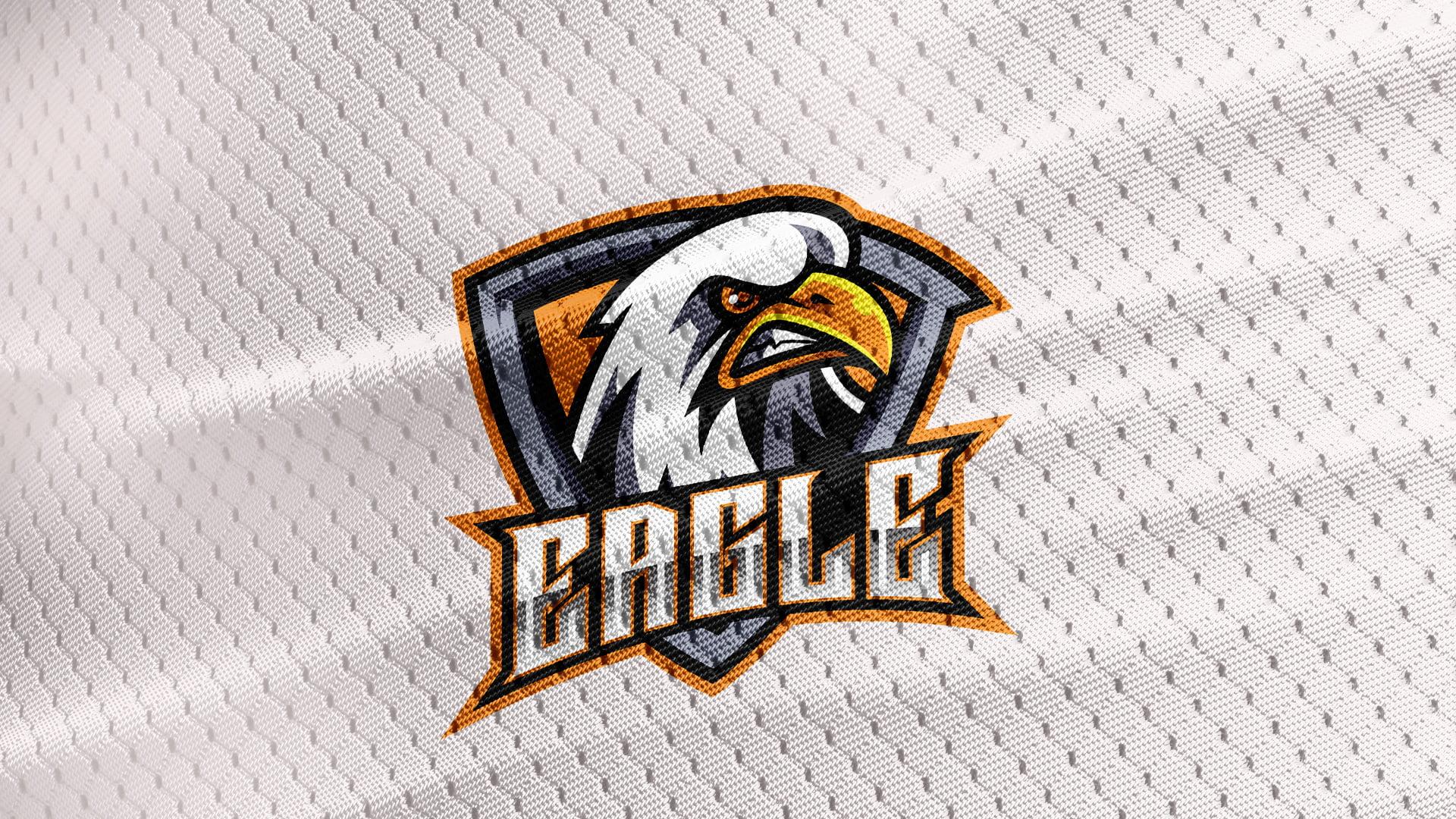 white-Jersey-Texture-Free-Eagle-Logo-Mascot