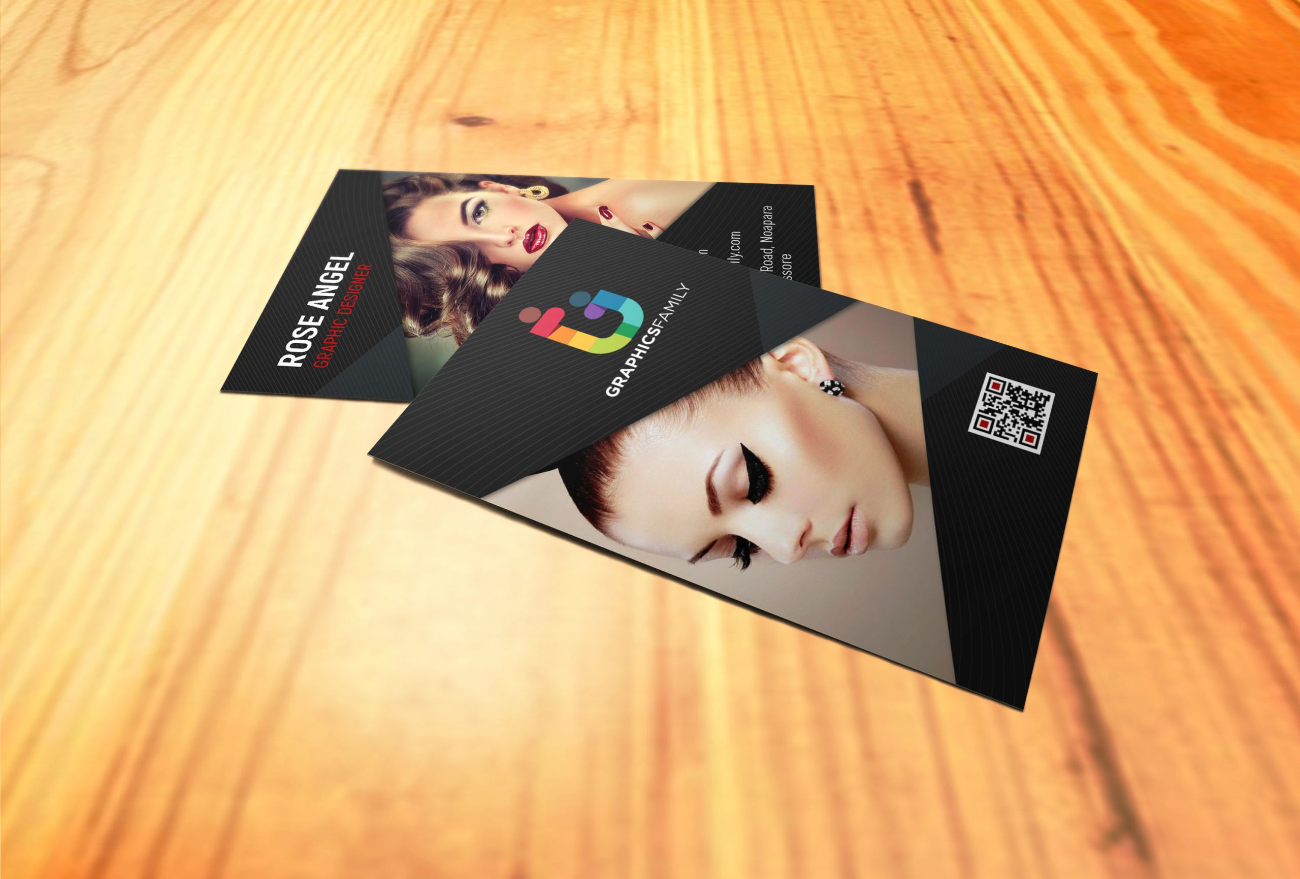 Beauty and Fashion Vertical Business Card Design
