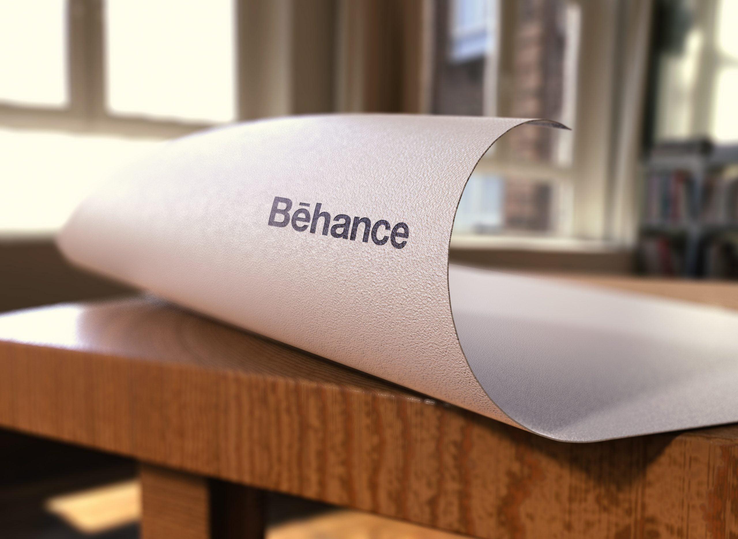 Behance-Logo-Free-Paper-Pressed-Logo-Mockup