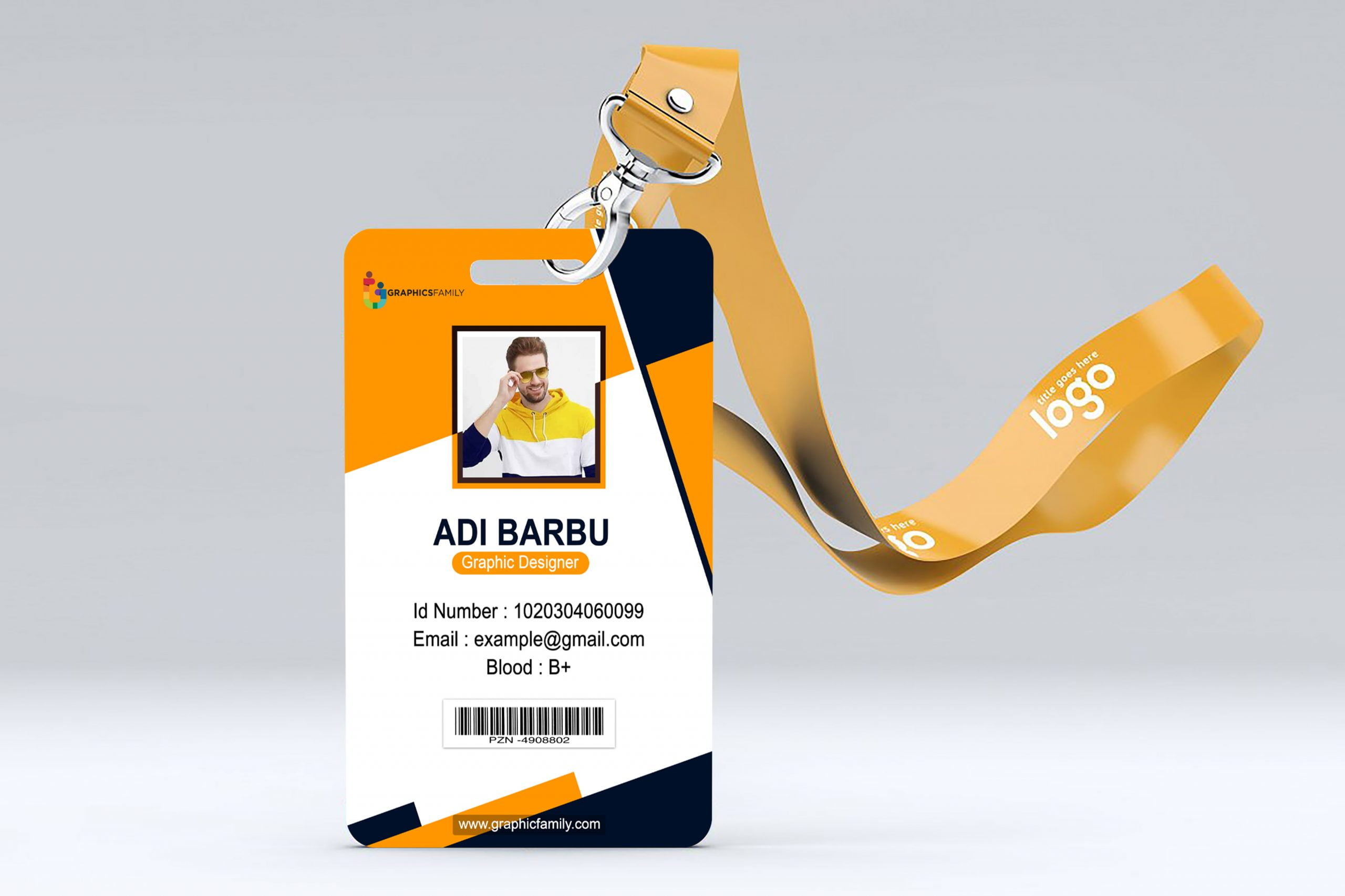 best employee id card design free psd  graphicsfamily