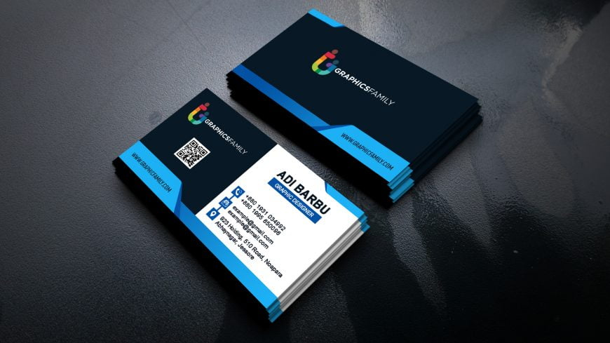Blue Business Card Design Download