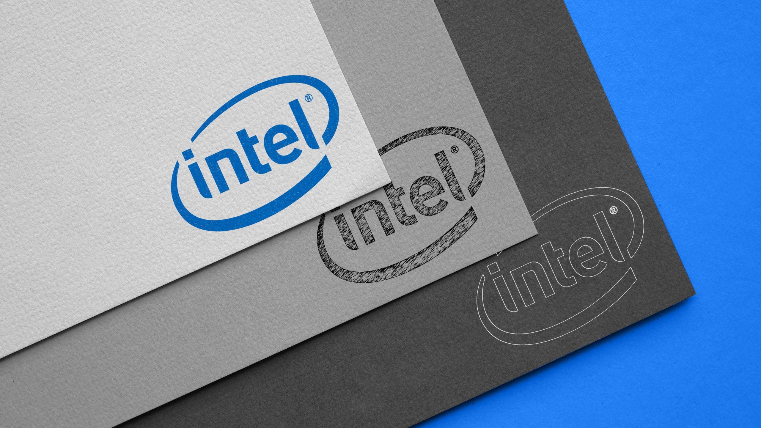 Carboard Logo Mockup Intel
