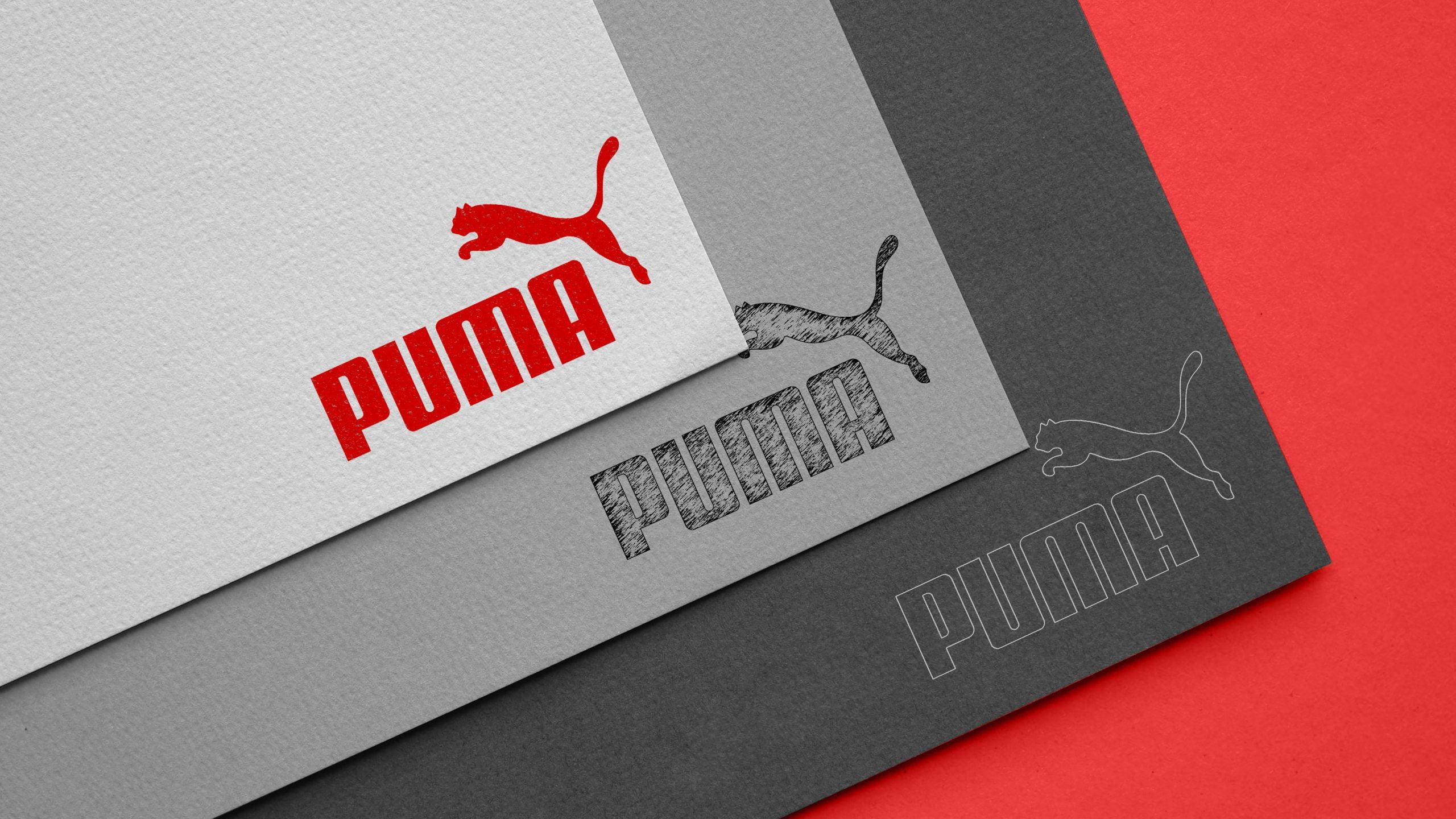 Carboard Logo Mockup Puma