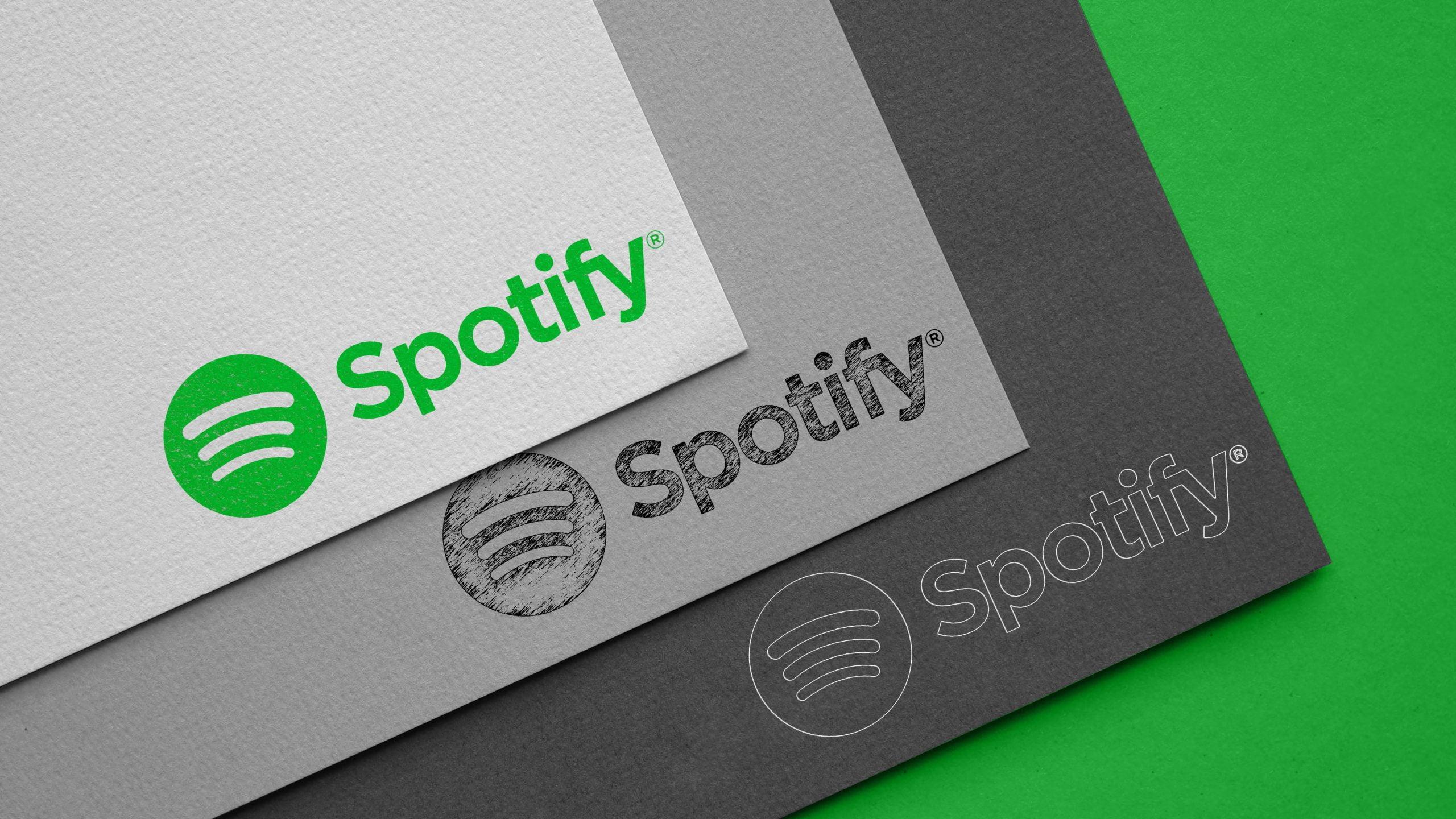 Carboard Logo Mockup Spotify