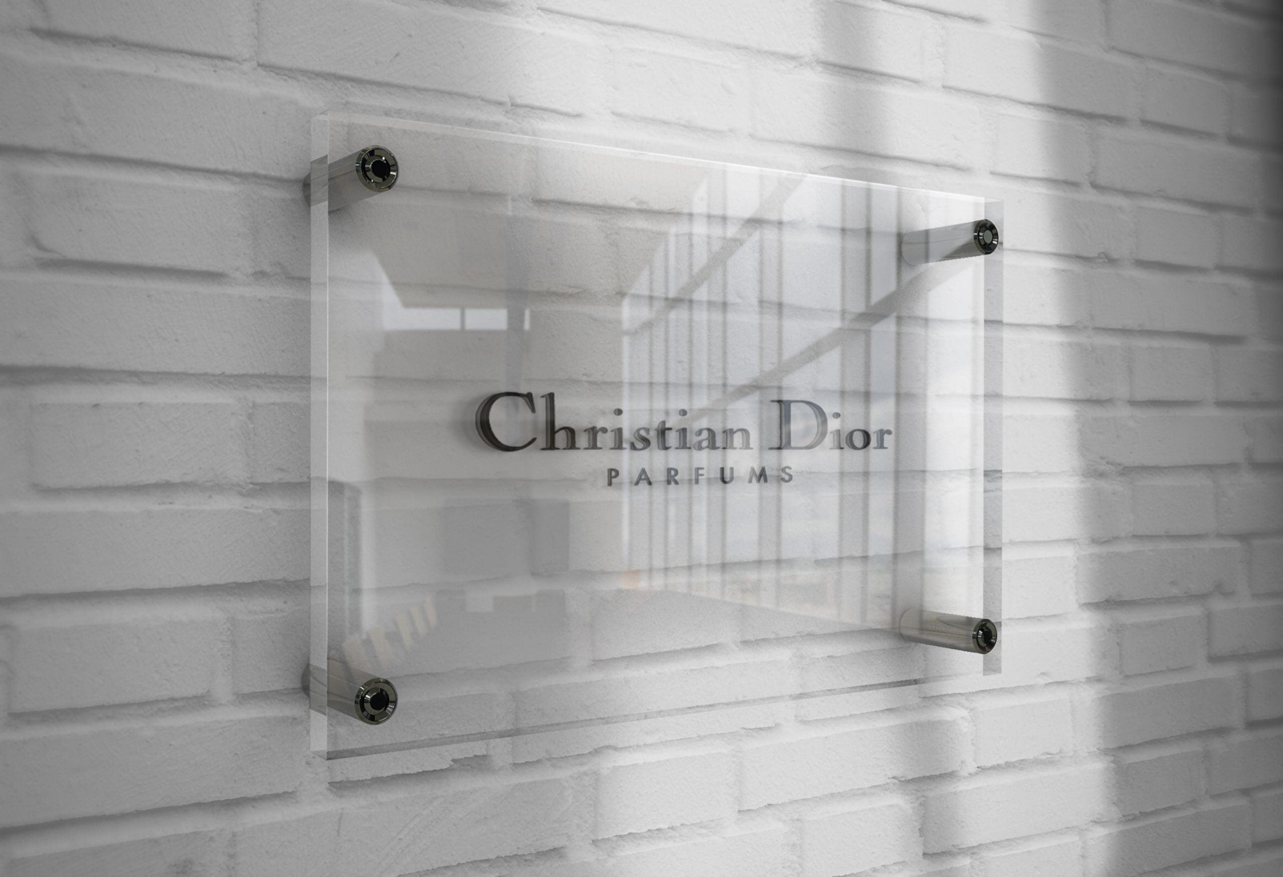 Christian-Dior-Logo-Mockup-3D-Glass-Plate