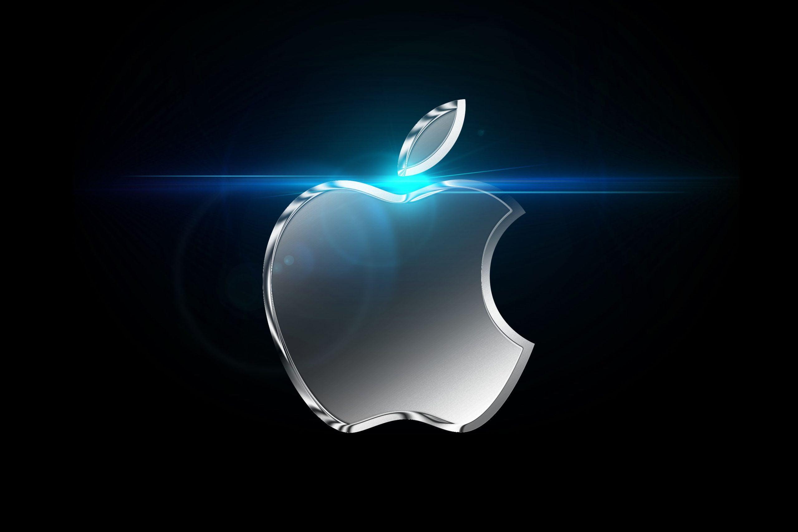 Chrome Effect Logo Mockup Apple