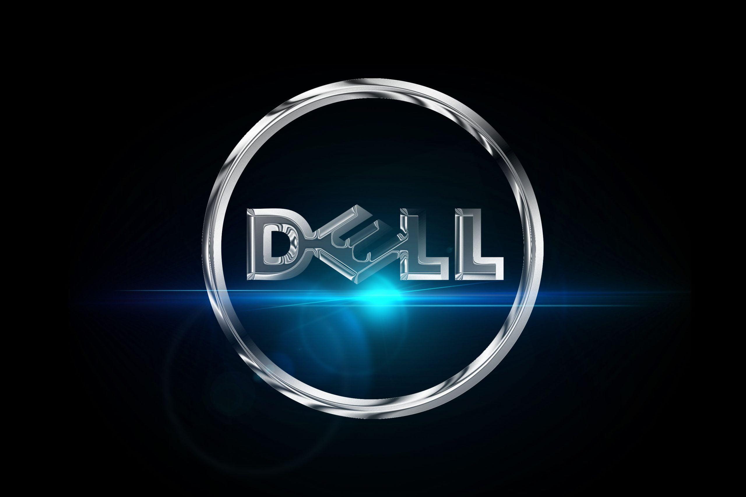 Chrome Effect Logo Mockup Dell