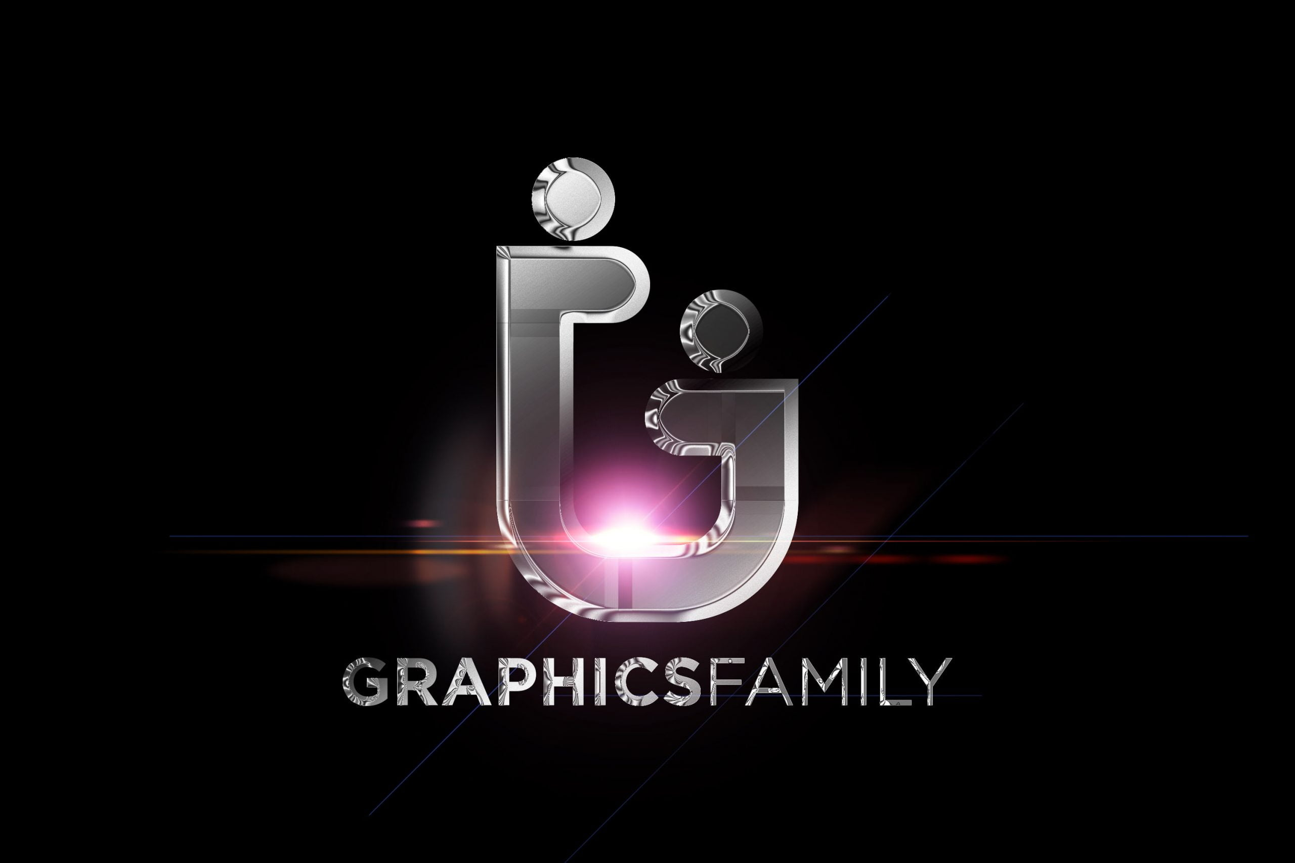 Chrome Effect Logo Mockup Graphicfamily