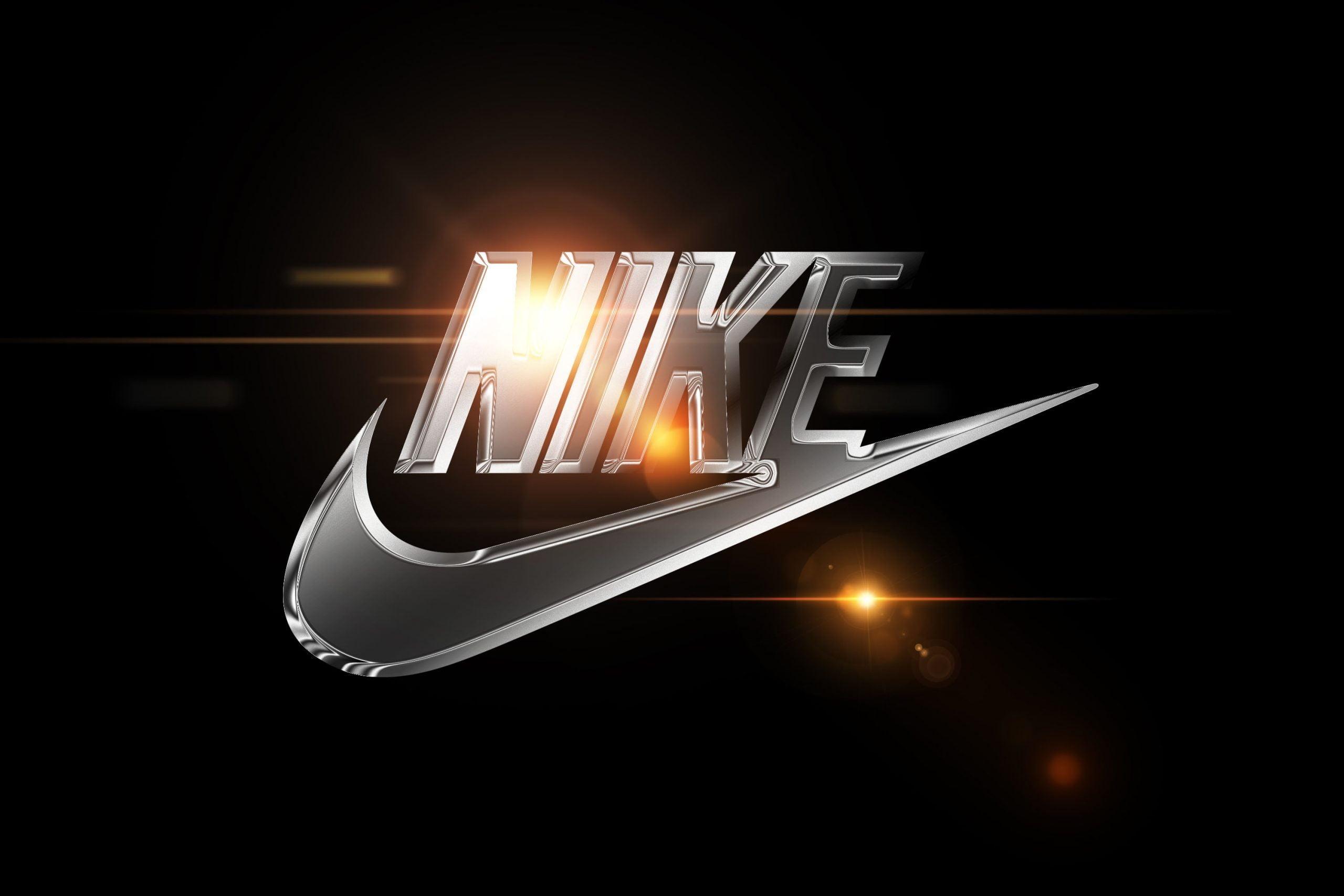 Chrome Effect Logo Mockup Nike