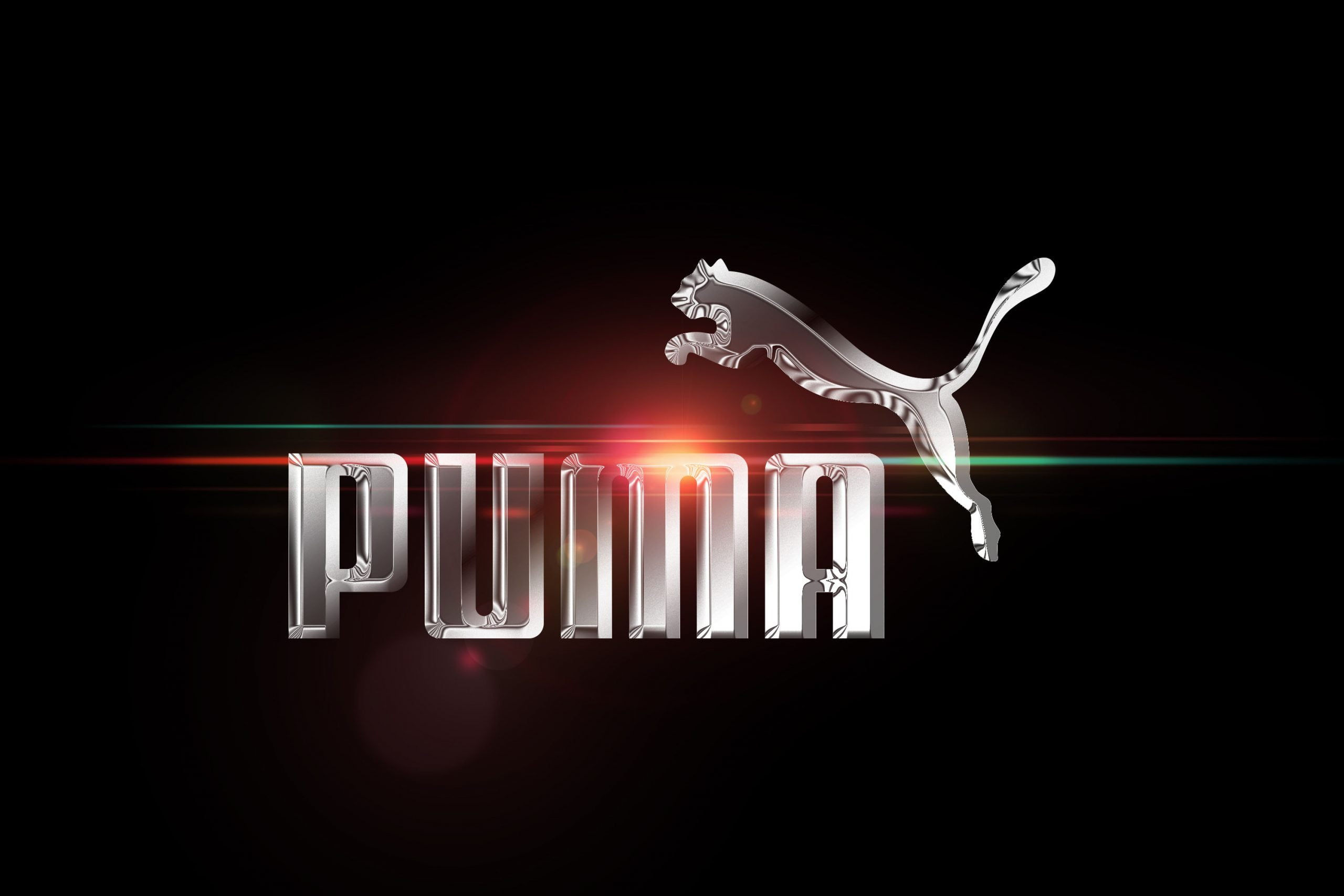 Chrome Effect Logo Mockup Puma