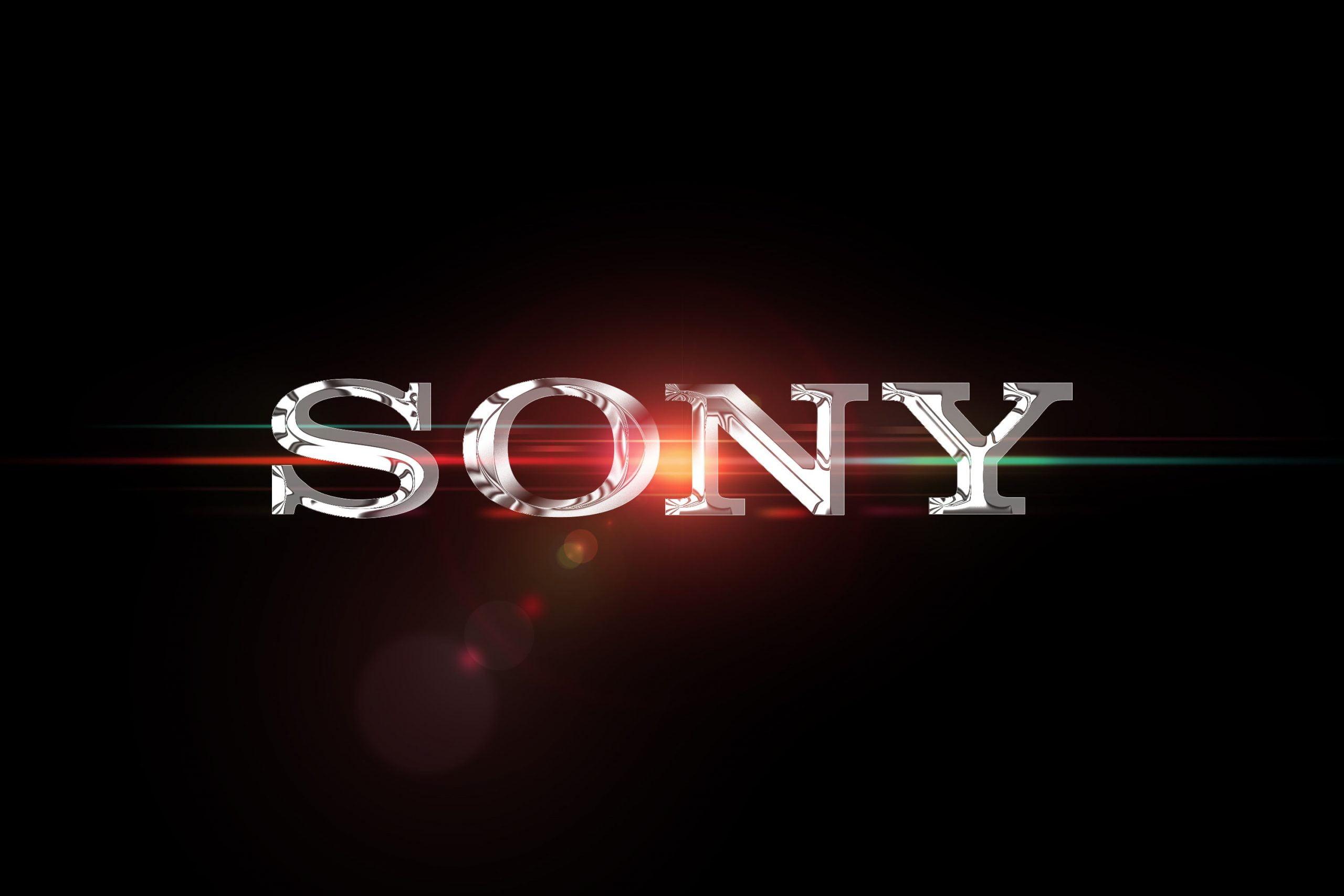 Chrome Effect Logo Mockup Sony