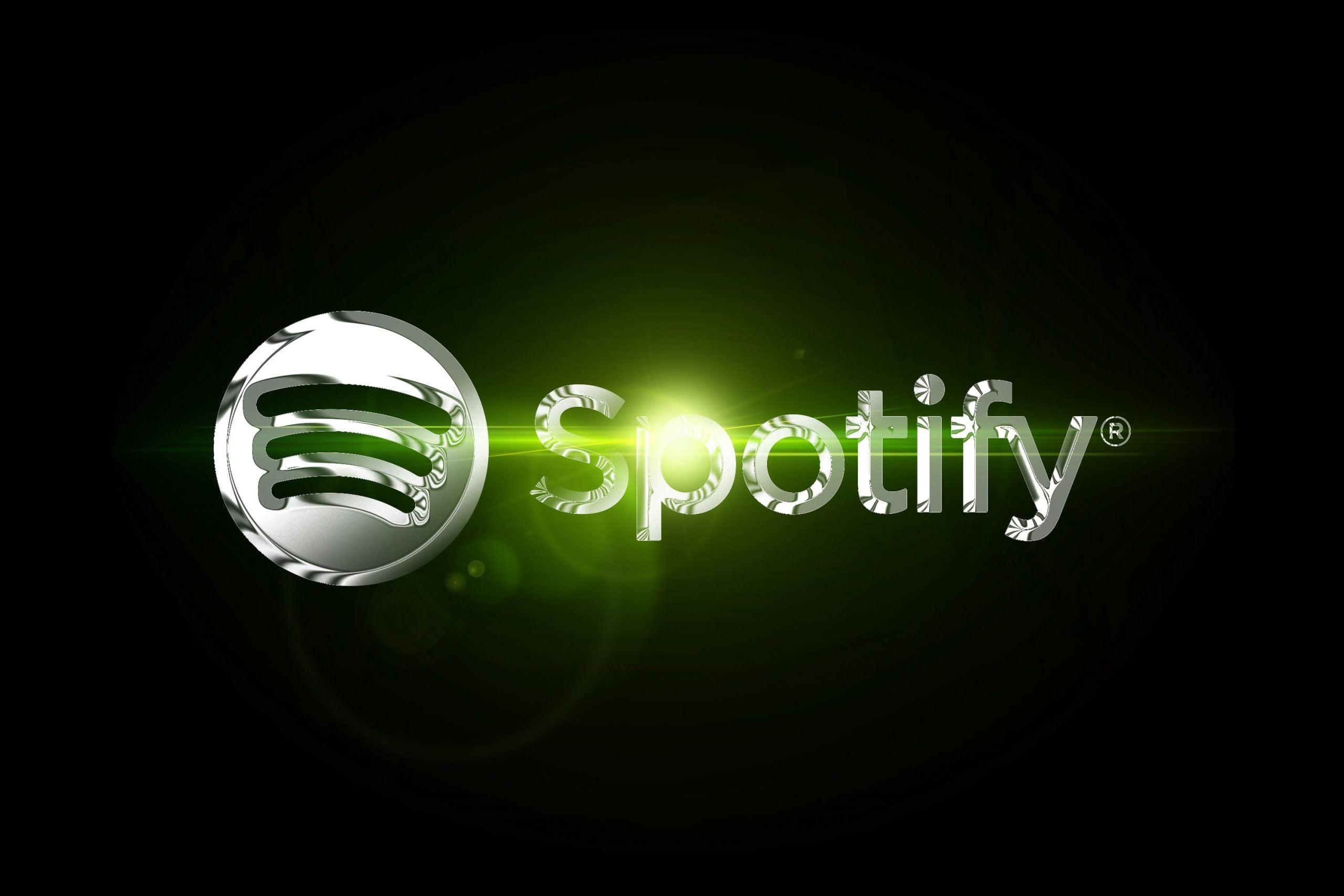 Chrome Effect Logo Mockup Spotify