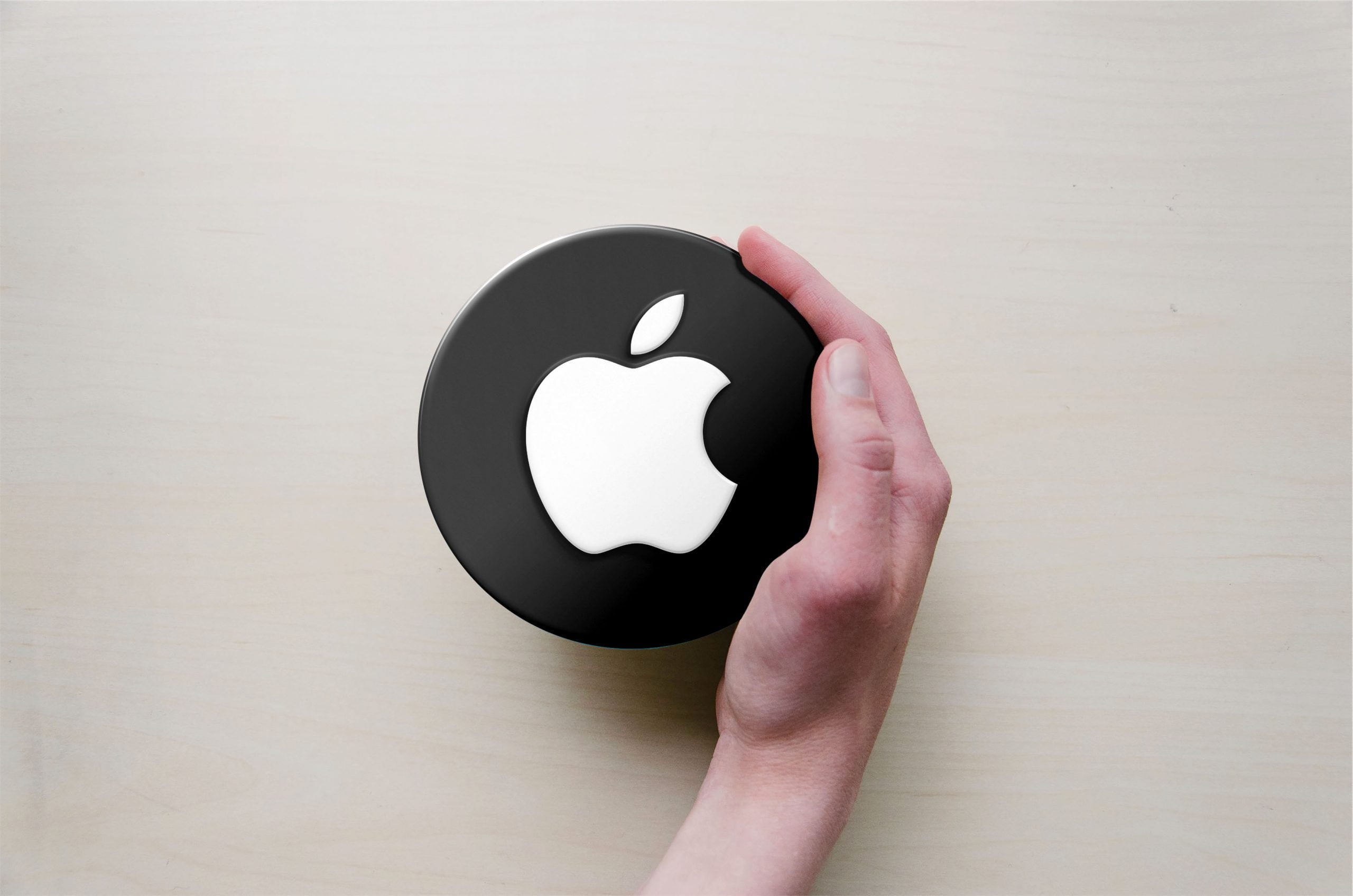 Circle with Hand Logo Mockup Apple