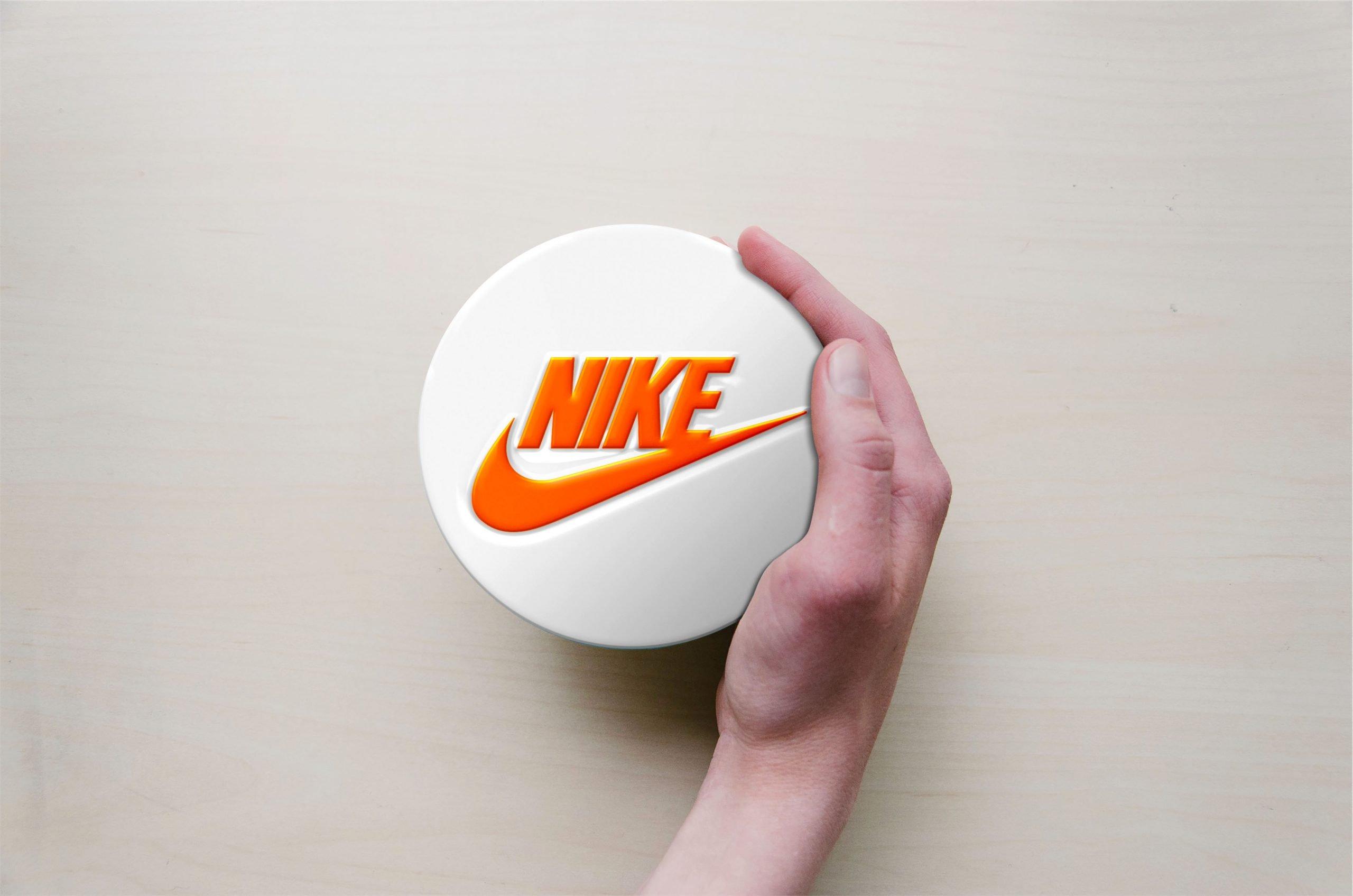 Circle with Hand Logo Mockup Nike