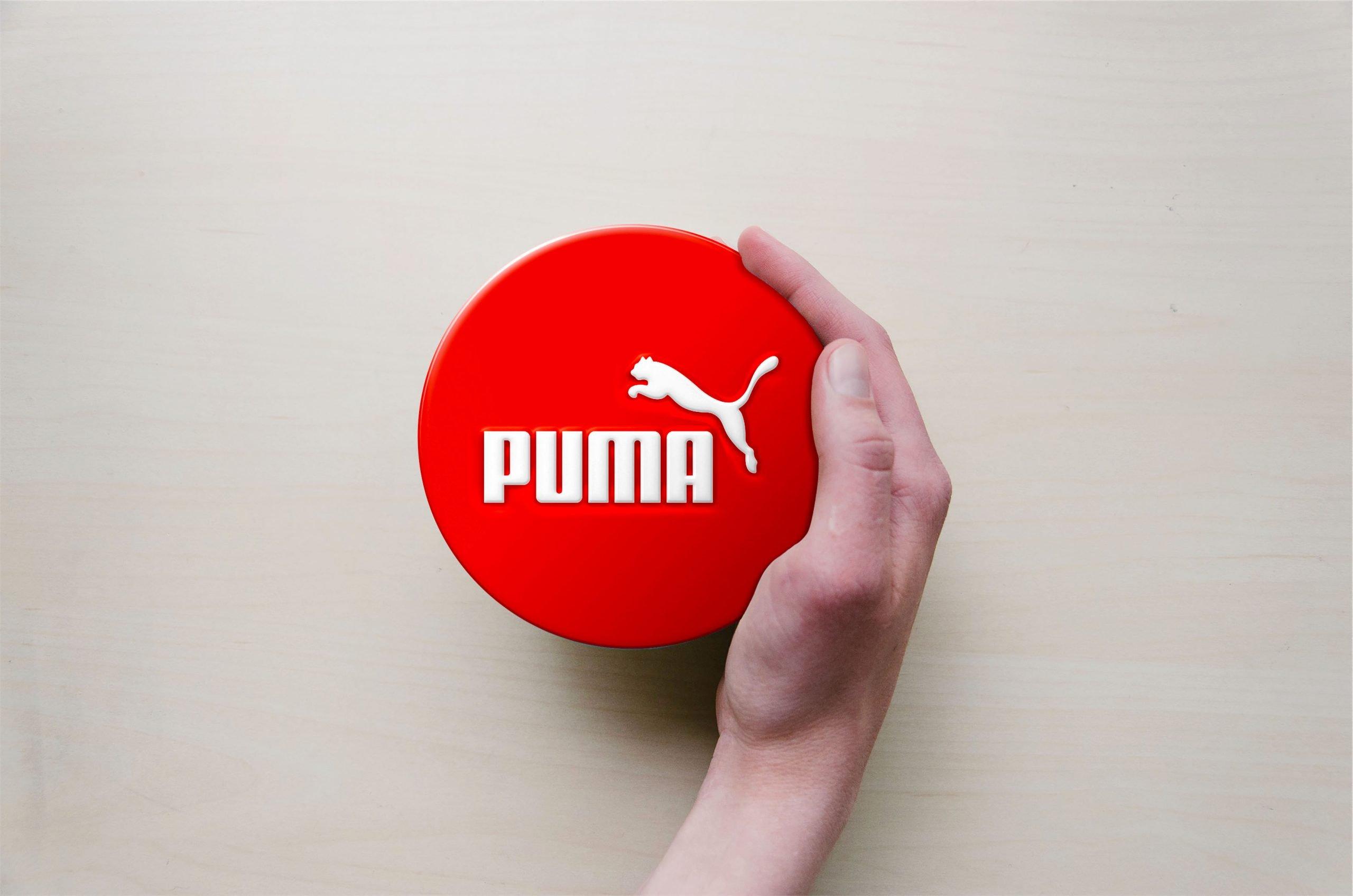 Circle with Hand Logo Mockup Puma