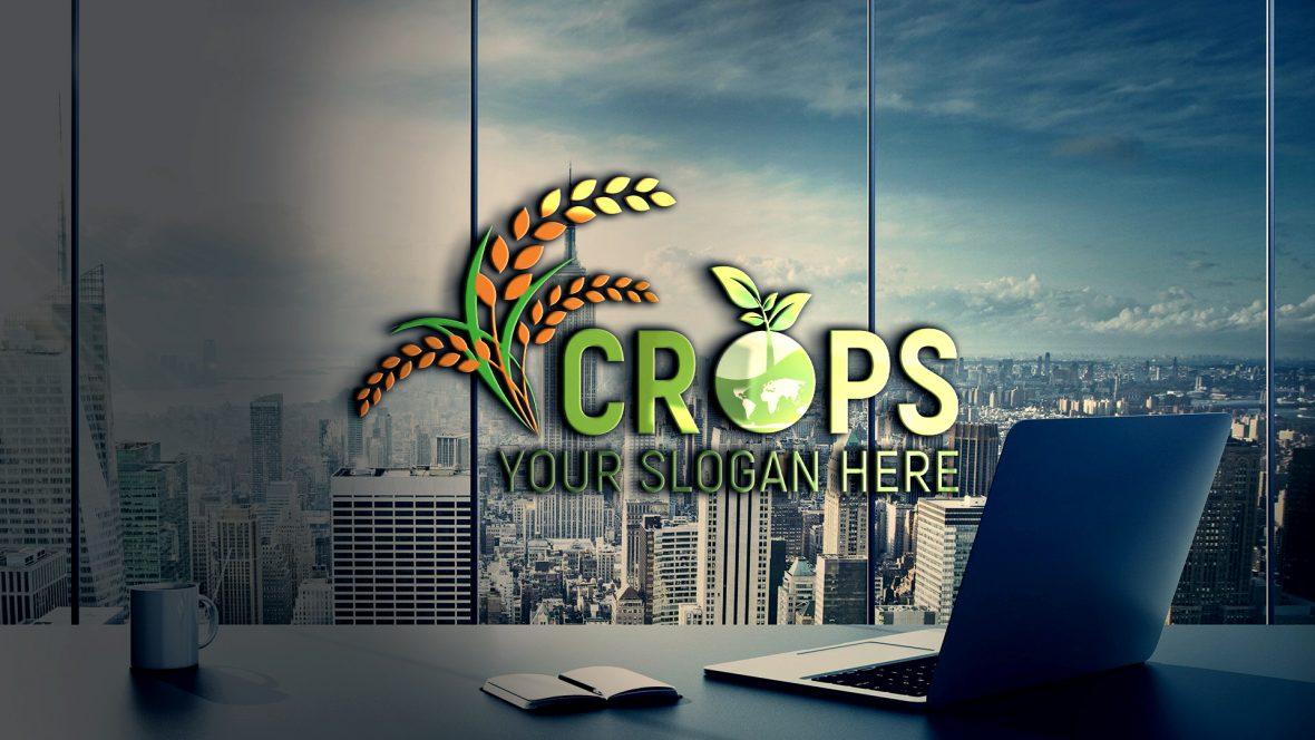 Clean Farm Agriculture Logo Template