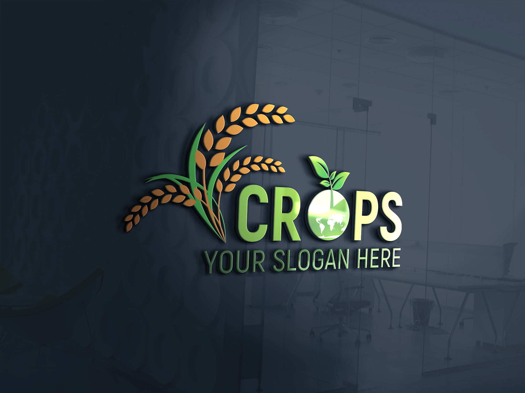 Clean Farm Agriculture Logo Template Download