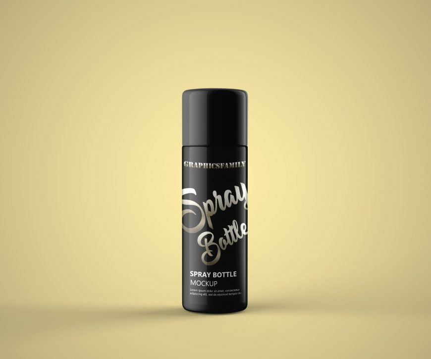 Deodorant Spray Mockup by GraphicsFamily