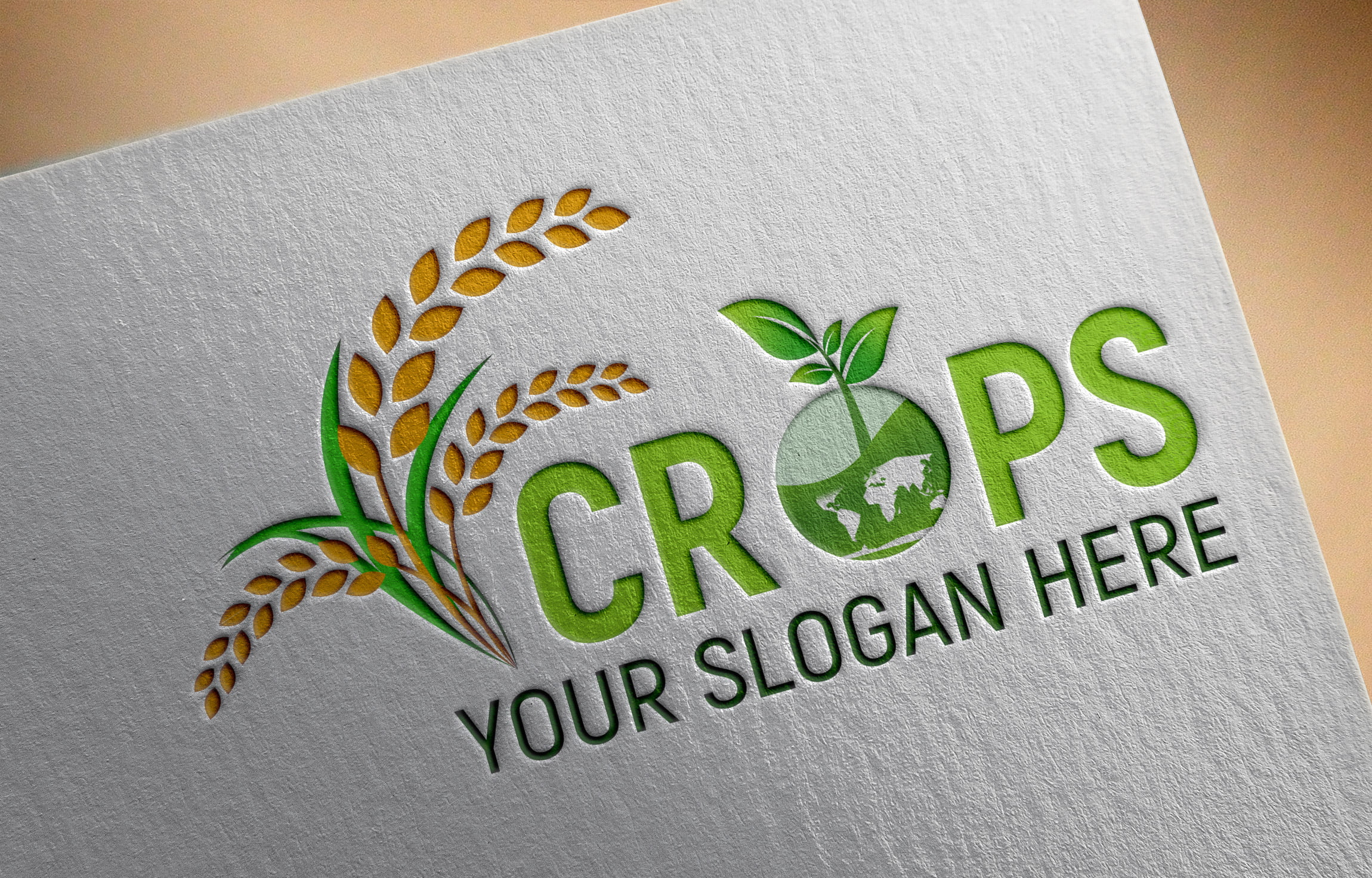 Download Clean Farm Agriculture Logo Template