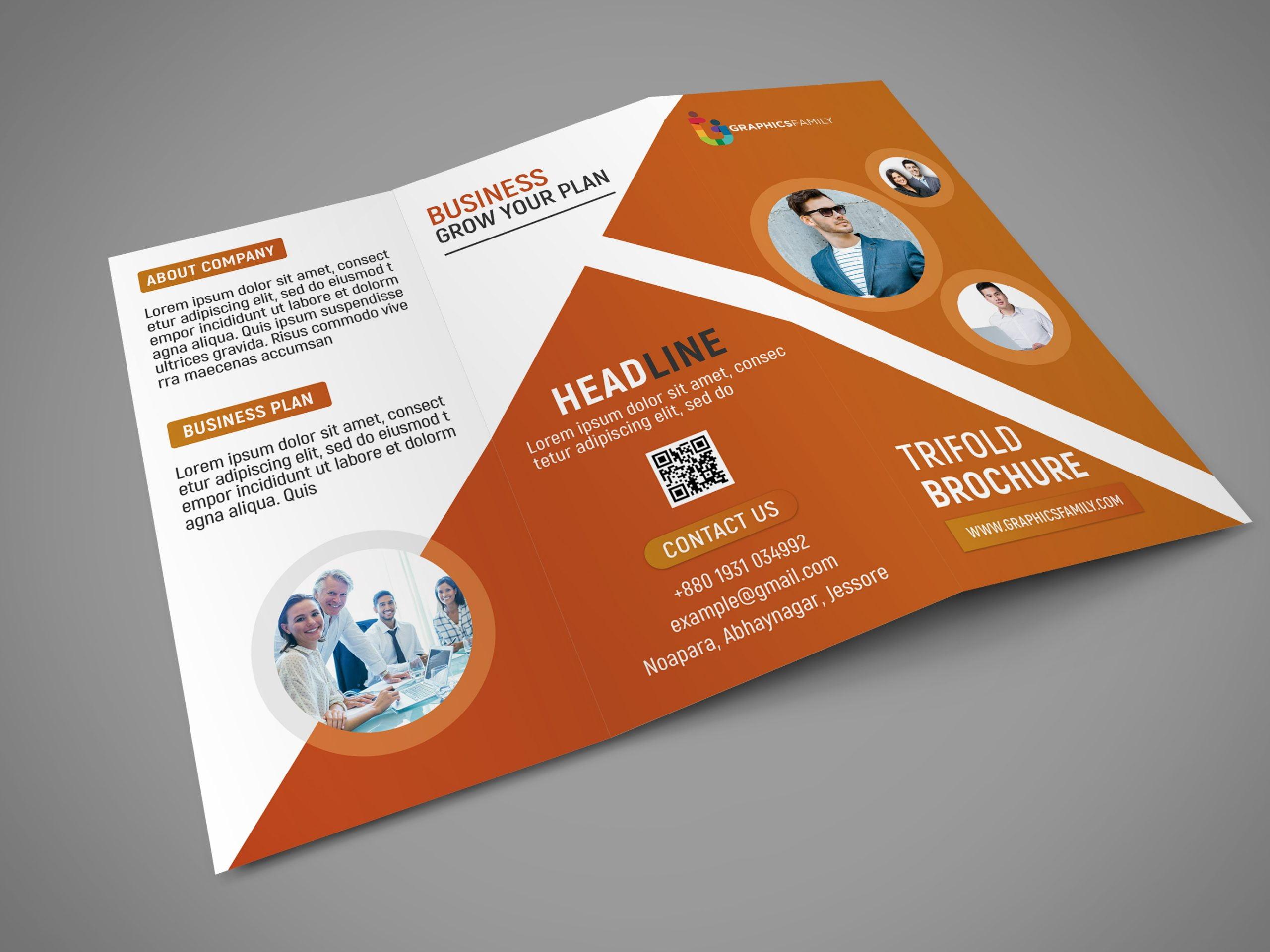 Download Professional Tri Fold Brochure Template