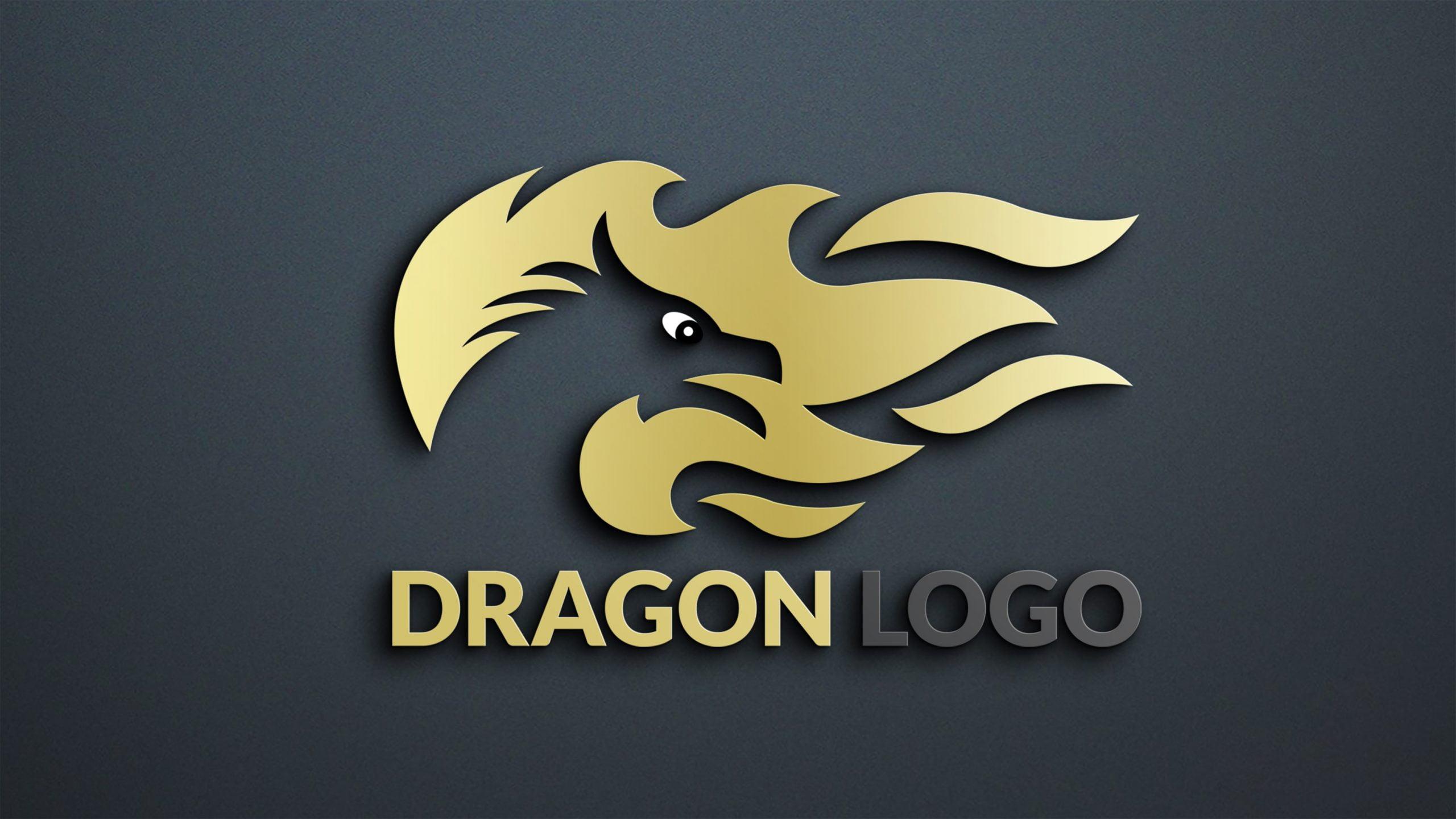 Dragon Logo Design PSD