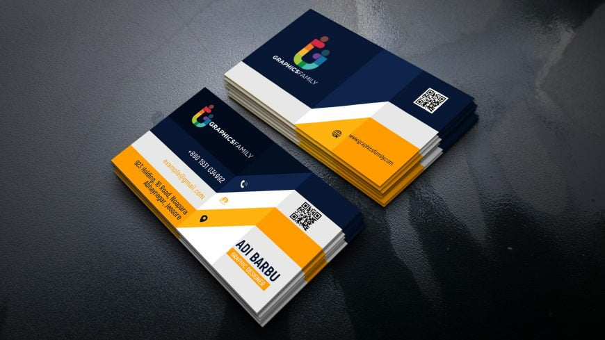 Elegant Realistic 3D Business Card Design