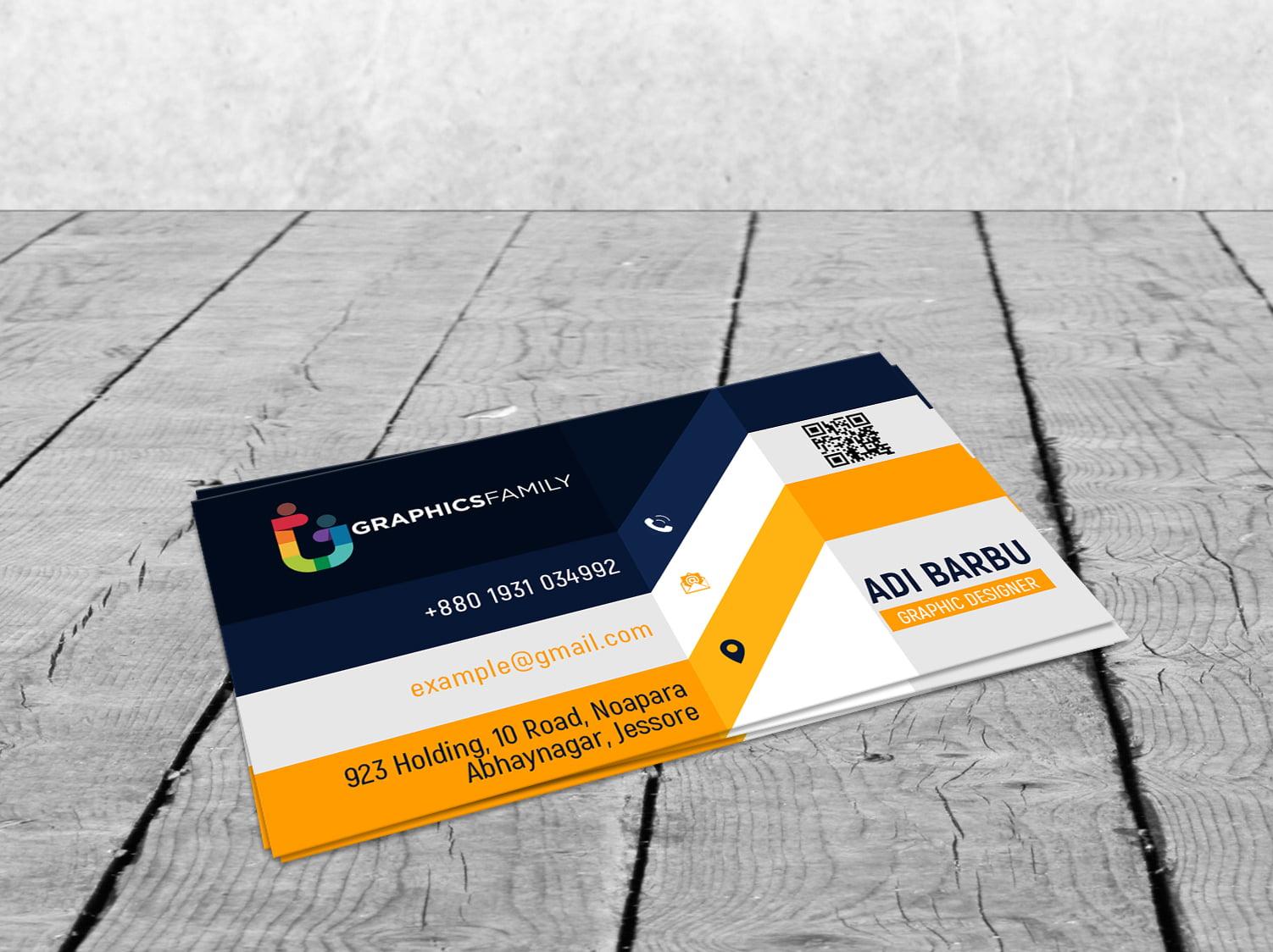 Elegant Realistic 3D Business Card Design Free Download