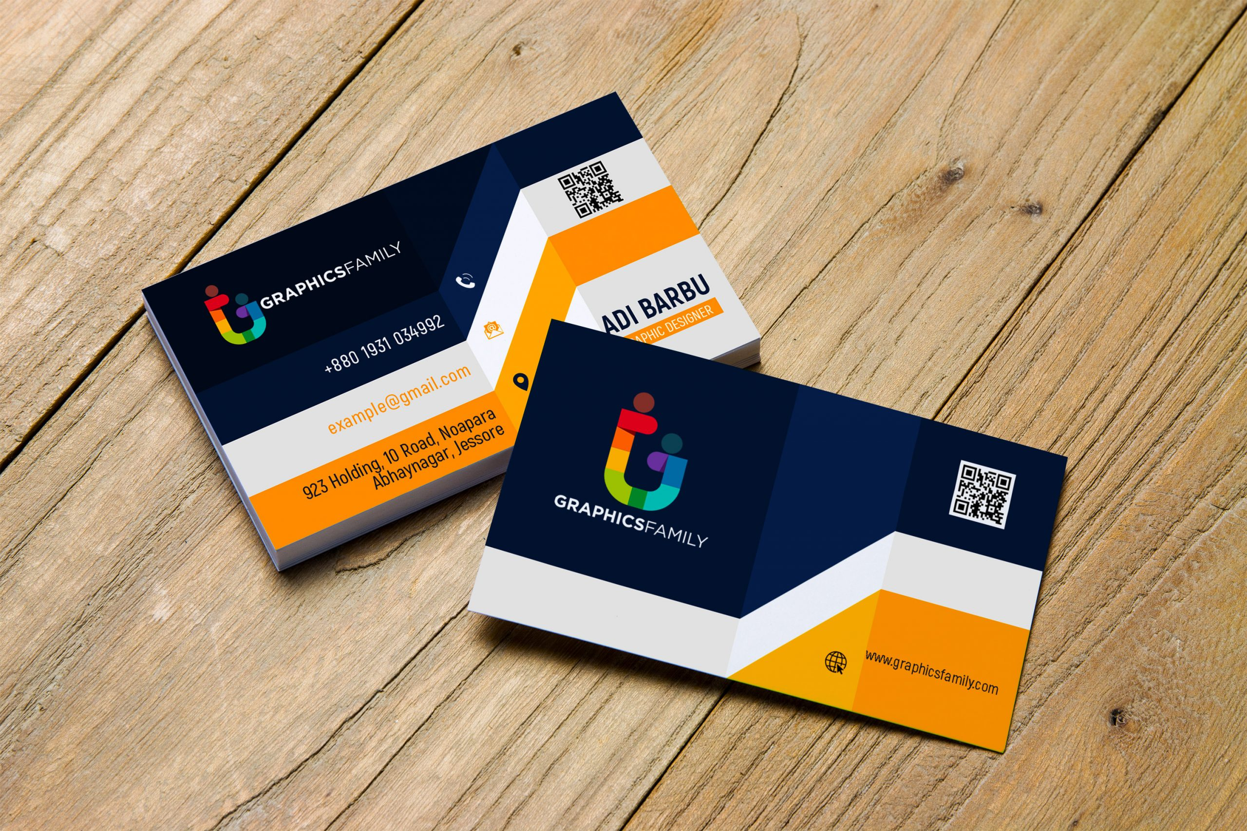 Elegant Realistic 3D Business Card Design GraphicsFamily