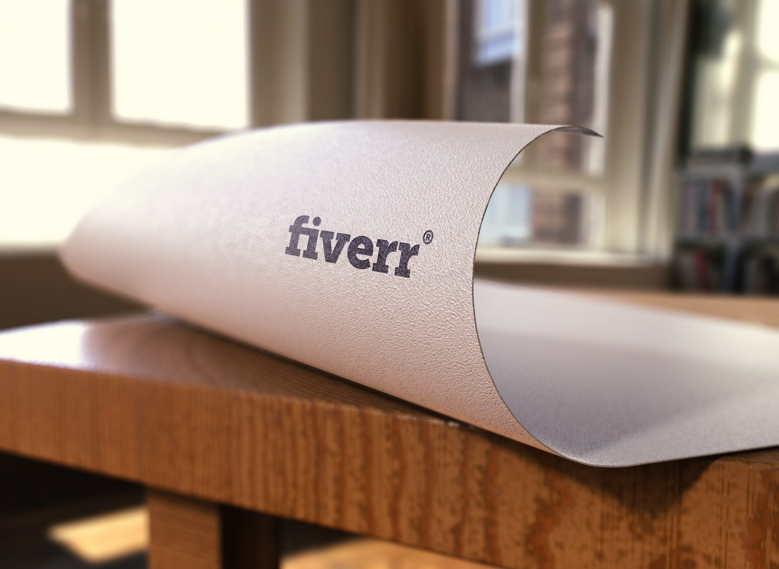 Fiverr-Free-Paper-Pressed-Logo-Mocku