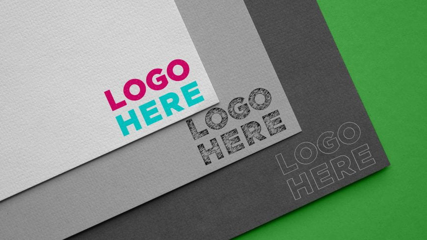 Carboard Logo Mockup by GraphicsFamily