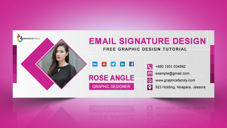 Free Creative Email Signature Template in Photoshop