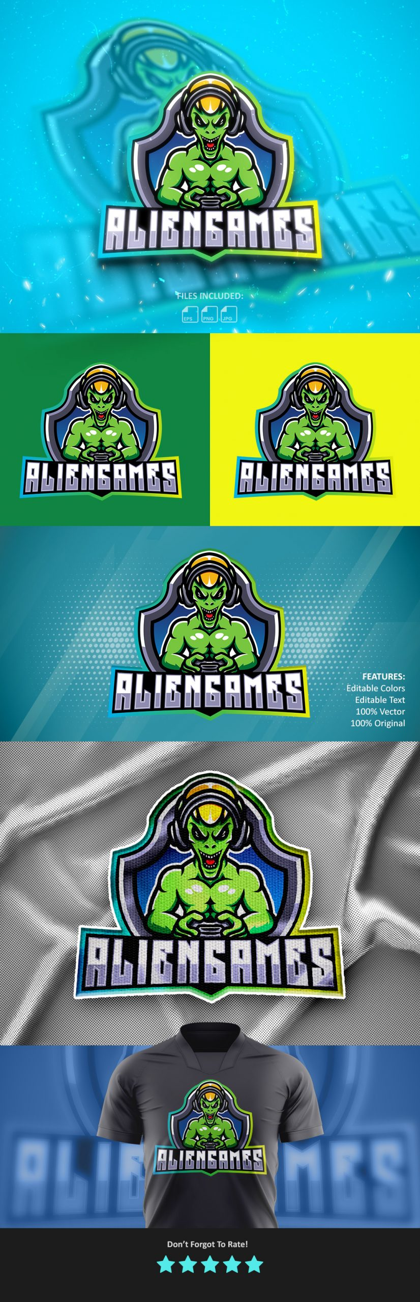 Free Download Alien Games Mascot Logo