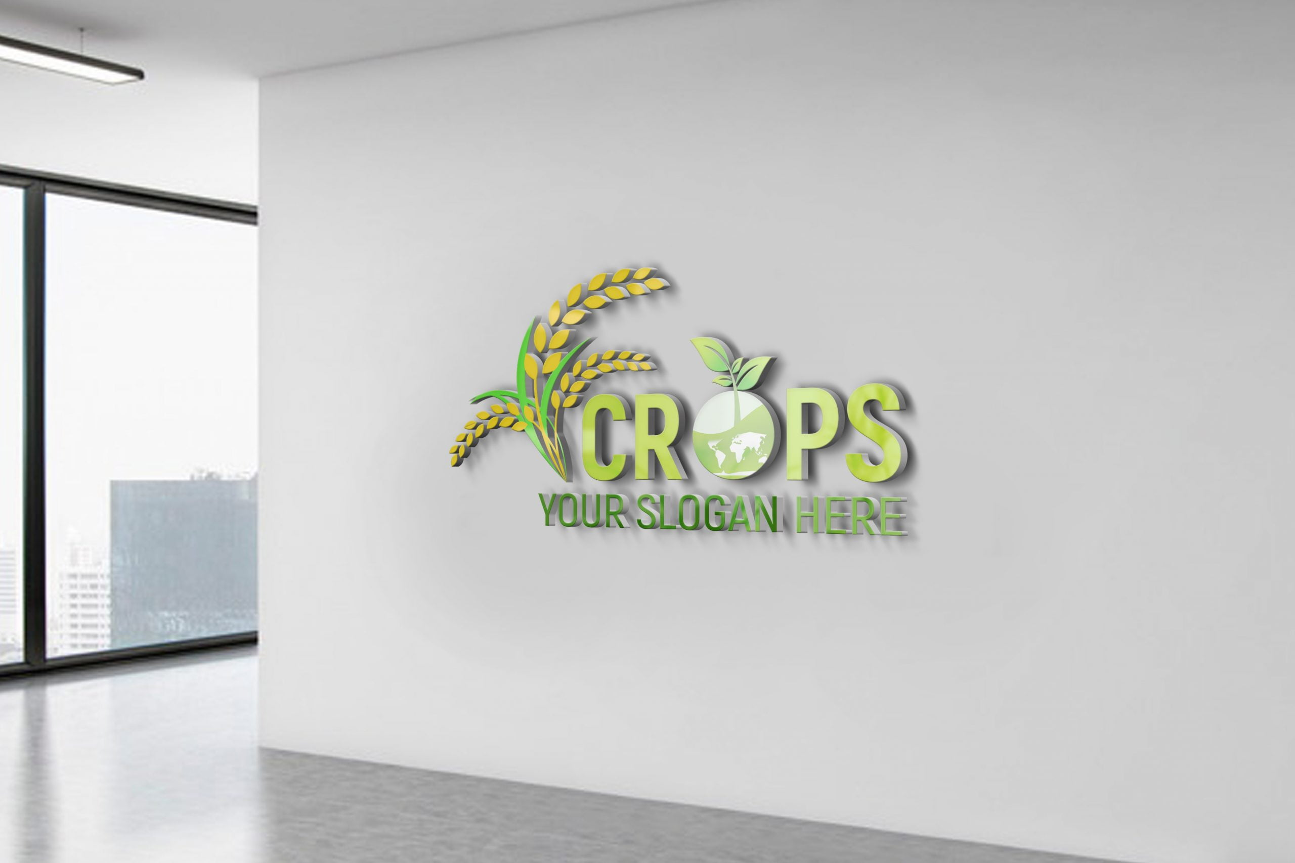 Free Download Clean Farm Agriculture Logo Template