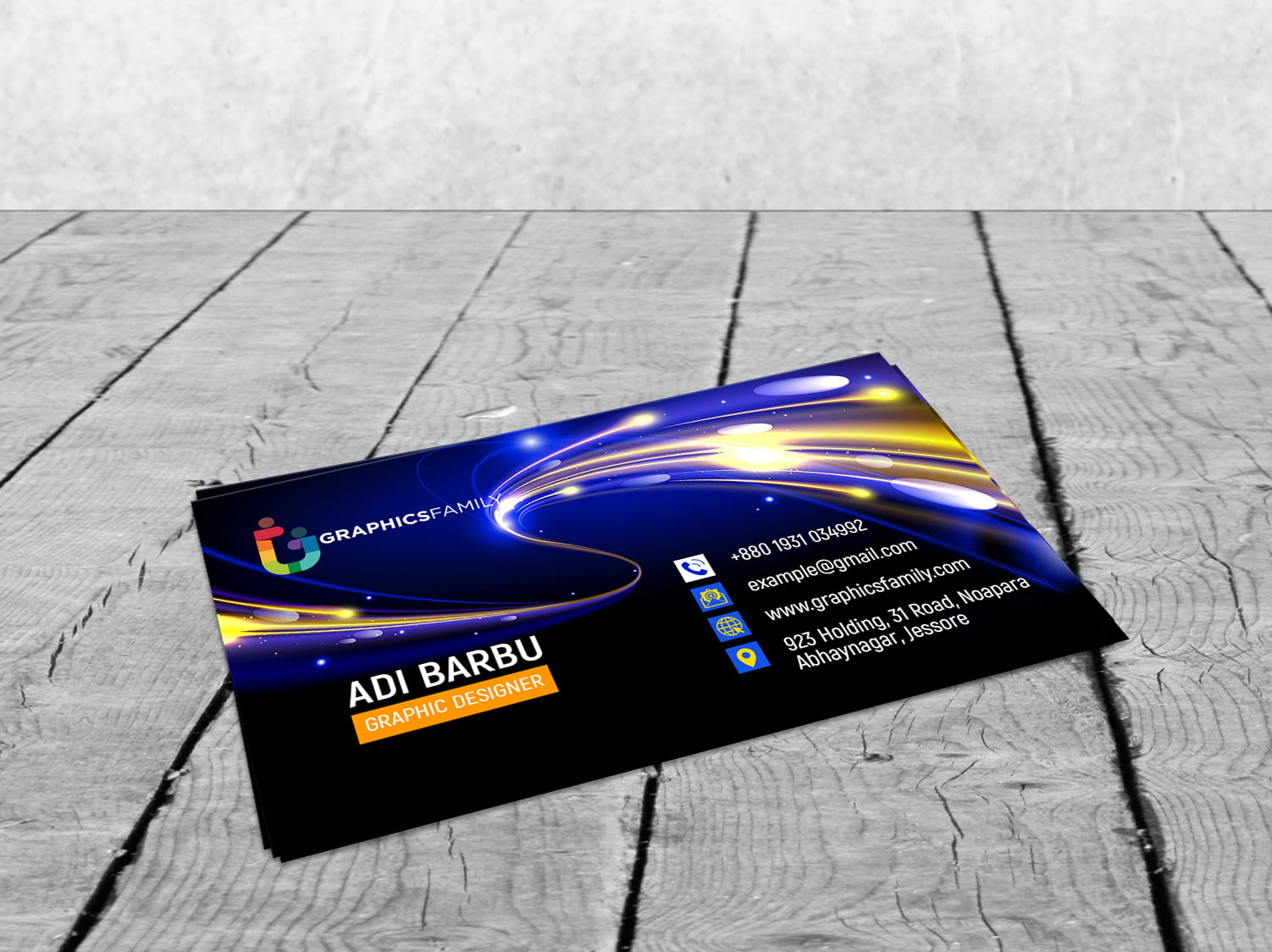 Free Download Futuristic Business Card Design