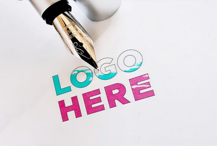 Ink Pen Logo Mockup by GraphicsFamily.com
