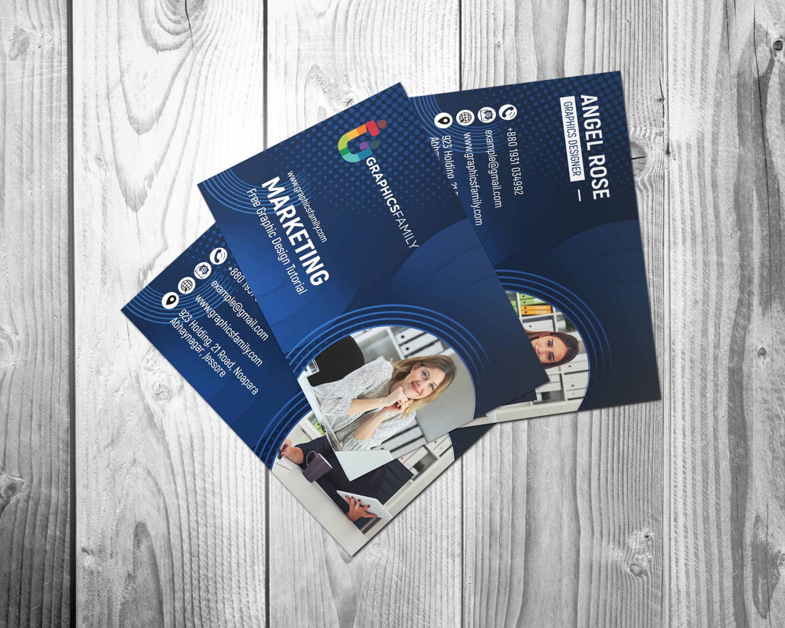 Free Download Marketing & Communications Business Cards Template