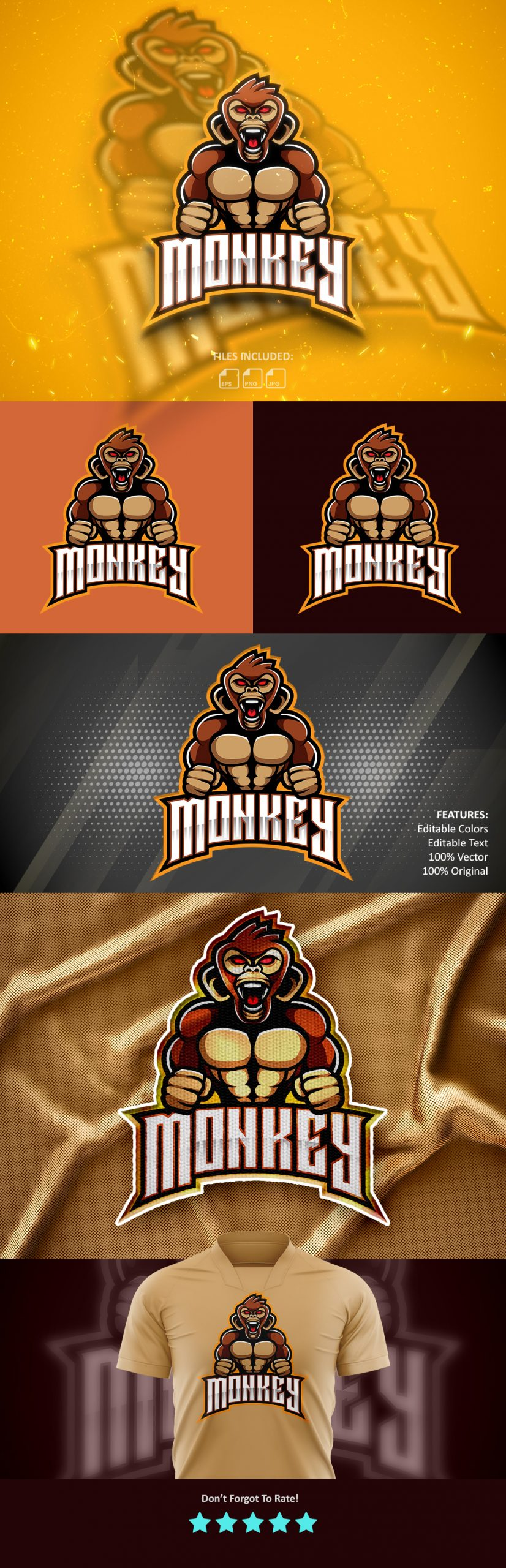 Free-Download-Monkey-Esports-Logo-Design