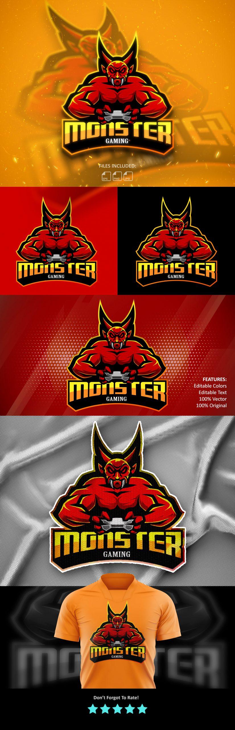 Free-Download-Monster-Gaming-Esports-Logo