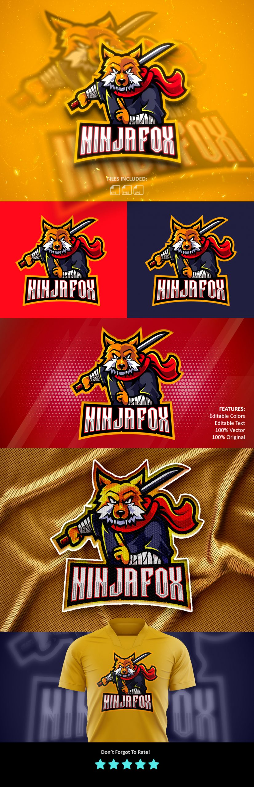 Free-Download-Ninja-Fox-Mascot-Logo