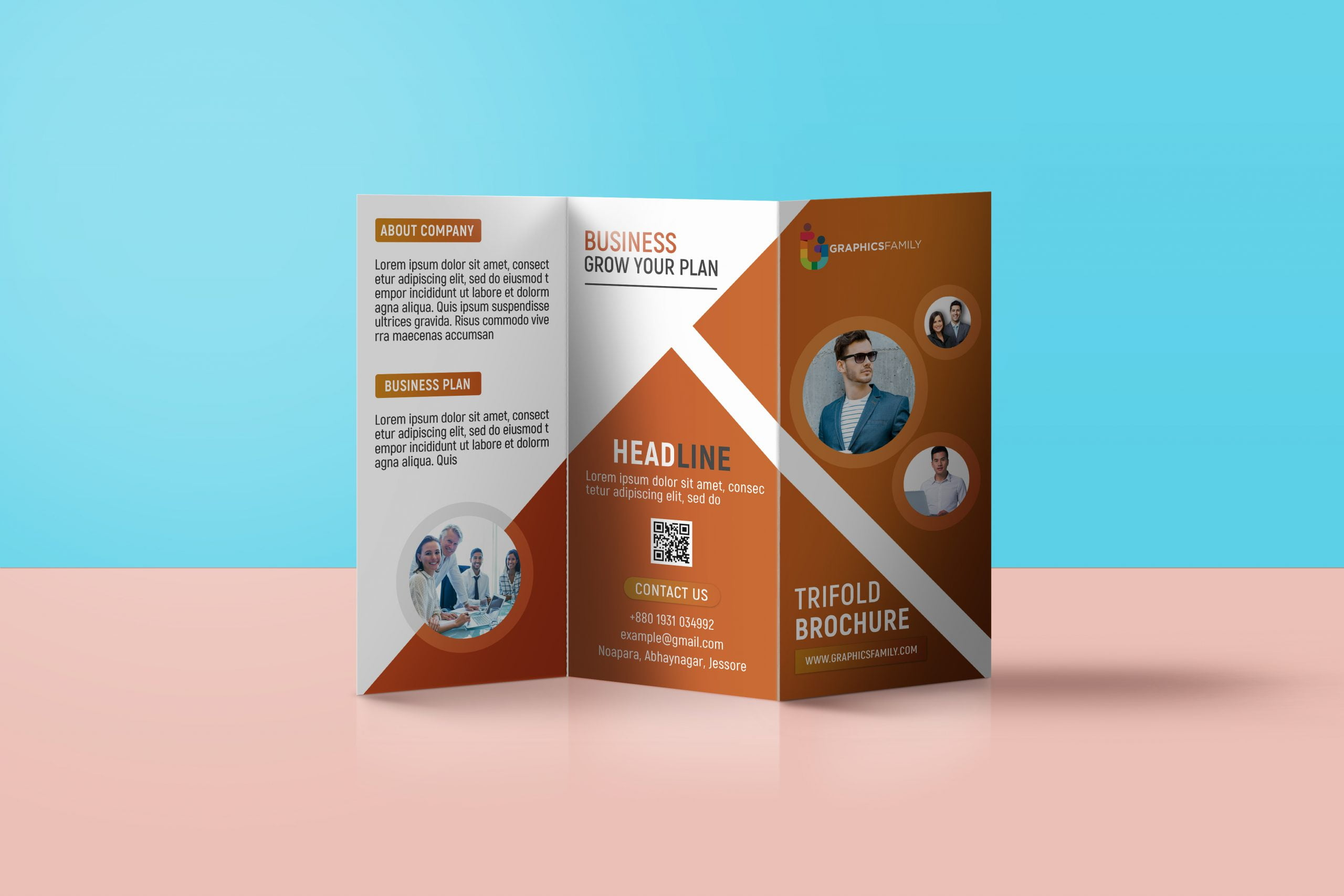 Free Download Professional Tri Fold Brochure Template