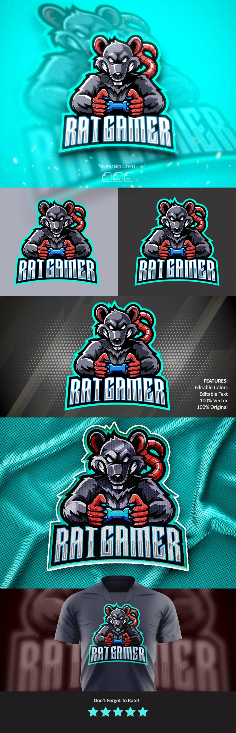 Free-Download-Rat-Gamer-Esports-Mascot-Logo