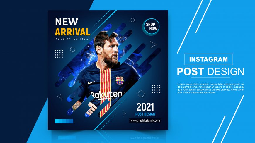 Free Download Sports eCommerce Instagram Post Design