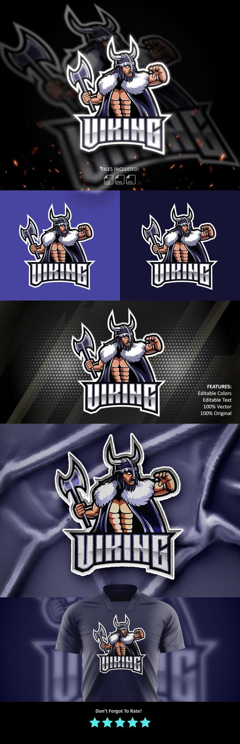 Free-Download-Viking-Warrior-Mascot-Logo