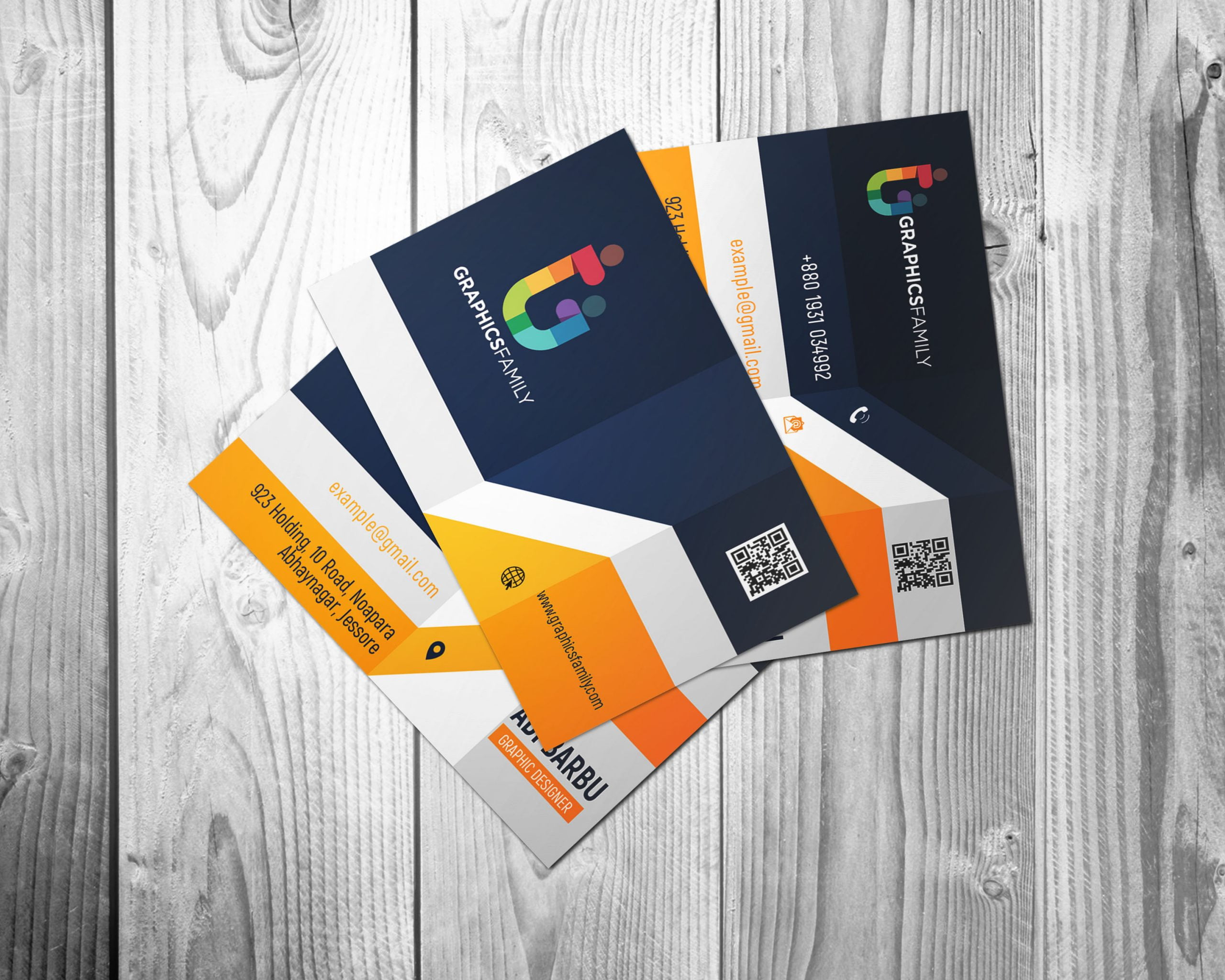 Free Elegant Realistic 3D Business Card Design