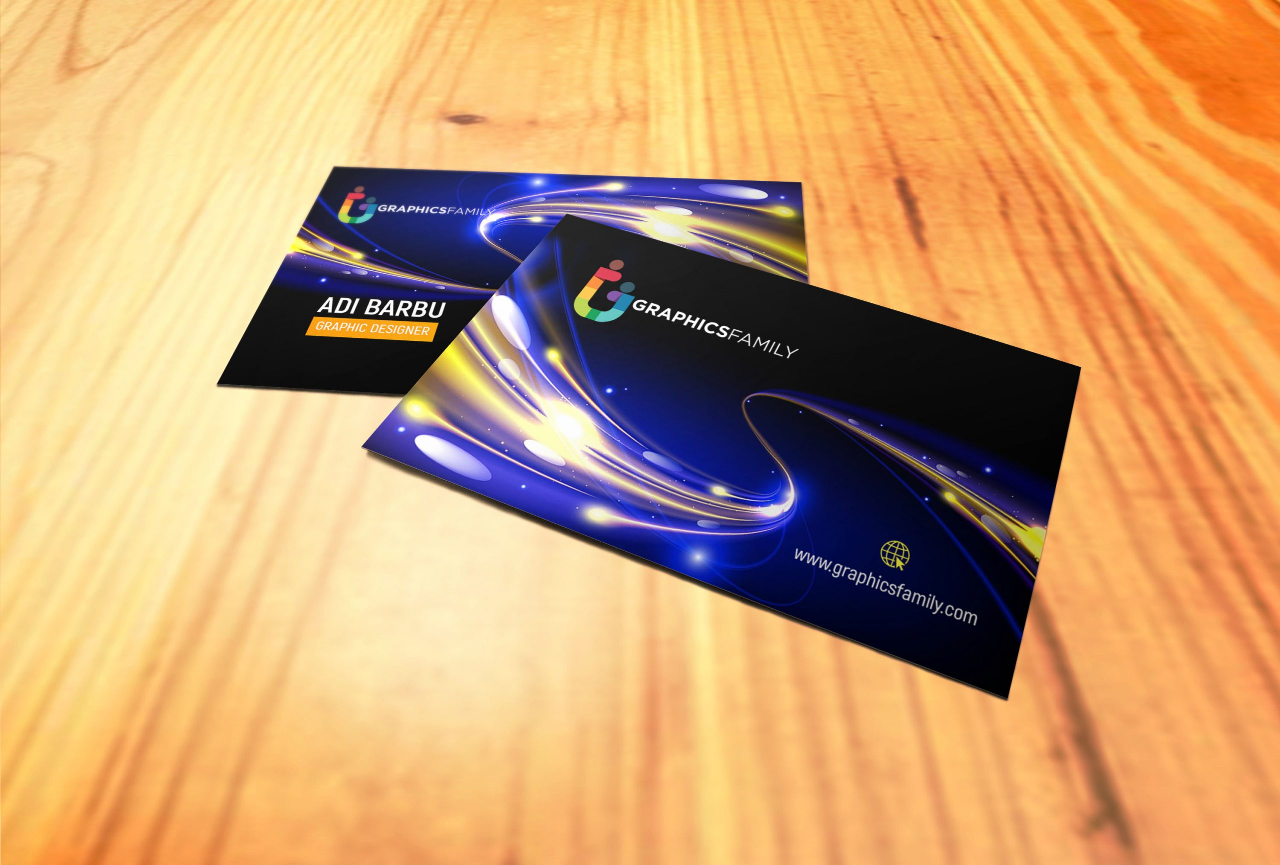 Free Futuristic Business Card Design