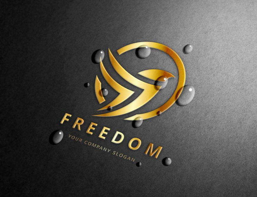 Free-Gold-Foil-Logo-Mockup-with-Water-Drops
